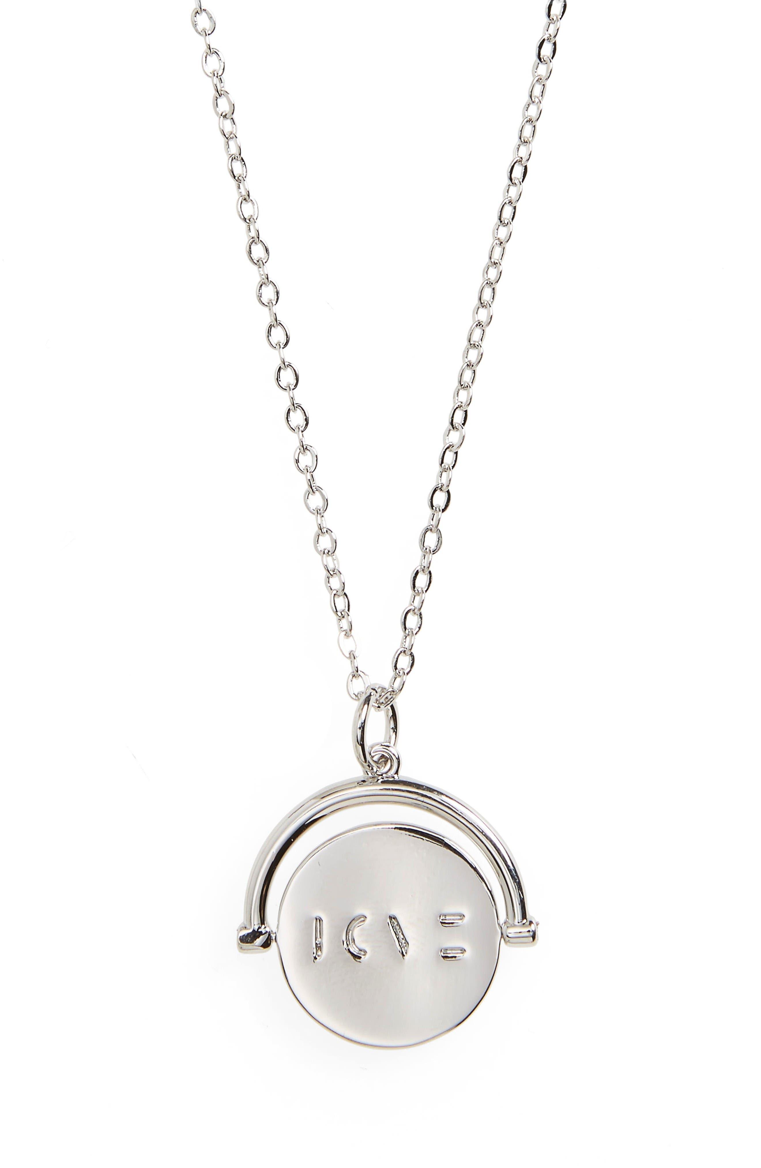 lulu dk Love Love Code Charm Necklace