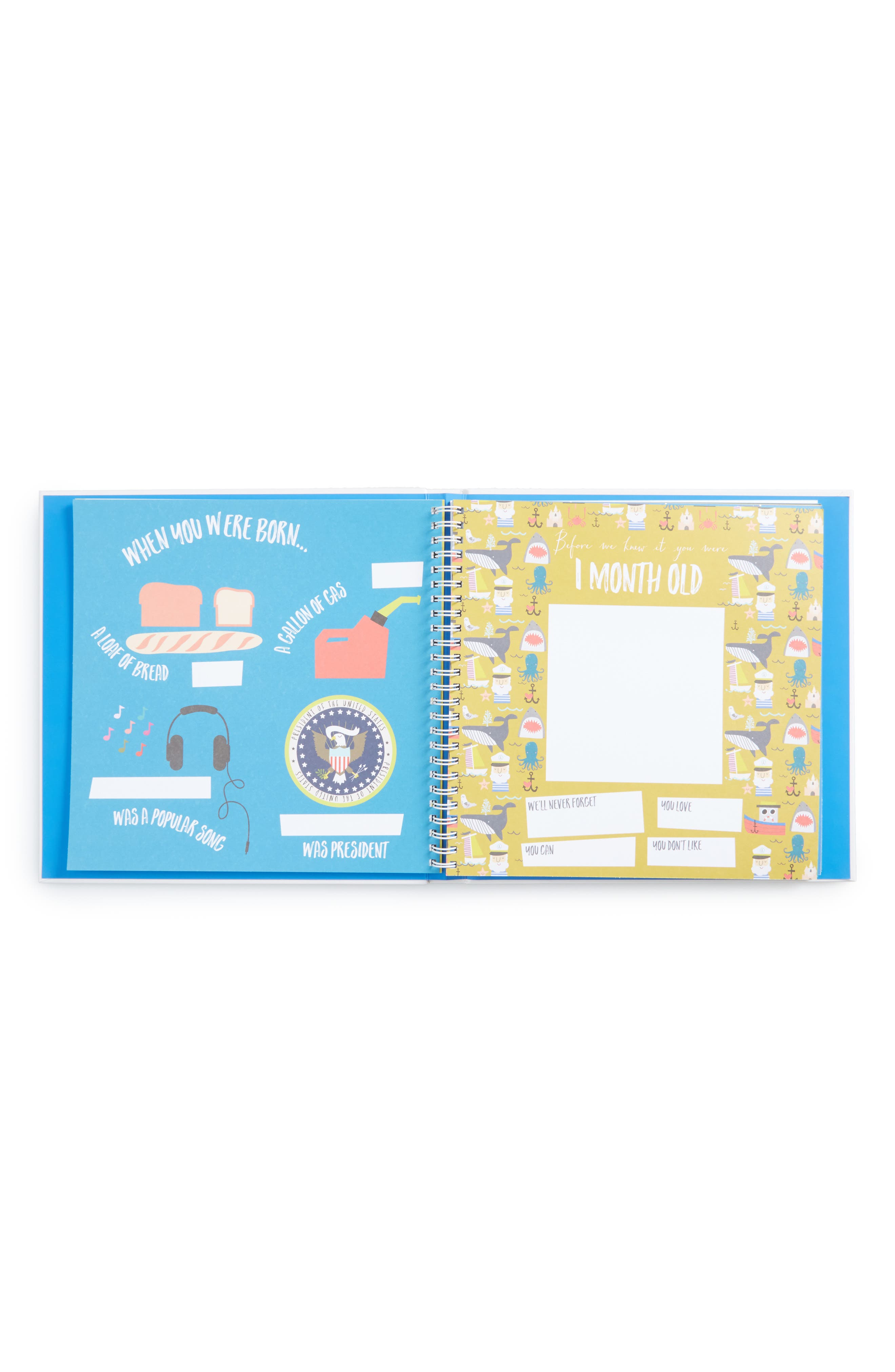 'Baby's First Year' Memory Book,                             Alternate thumbnail 2, color,                             Blue