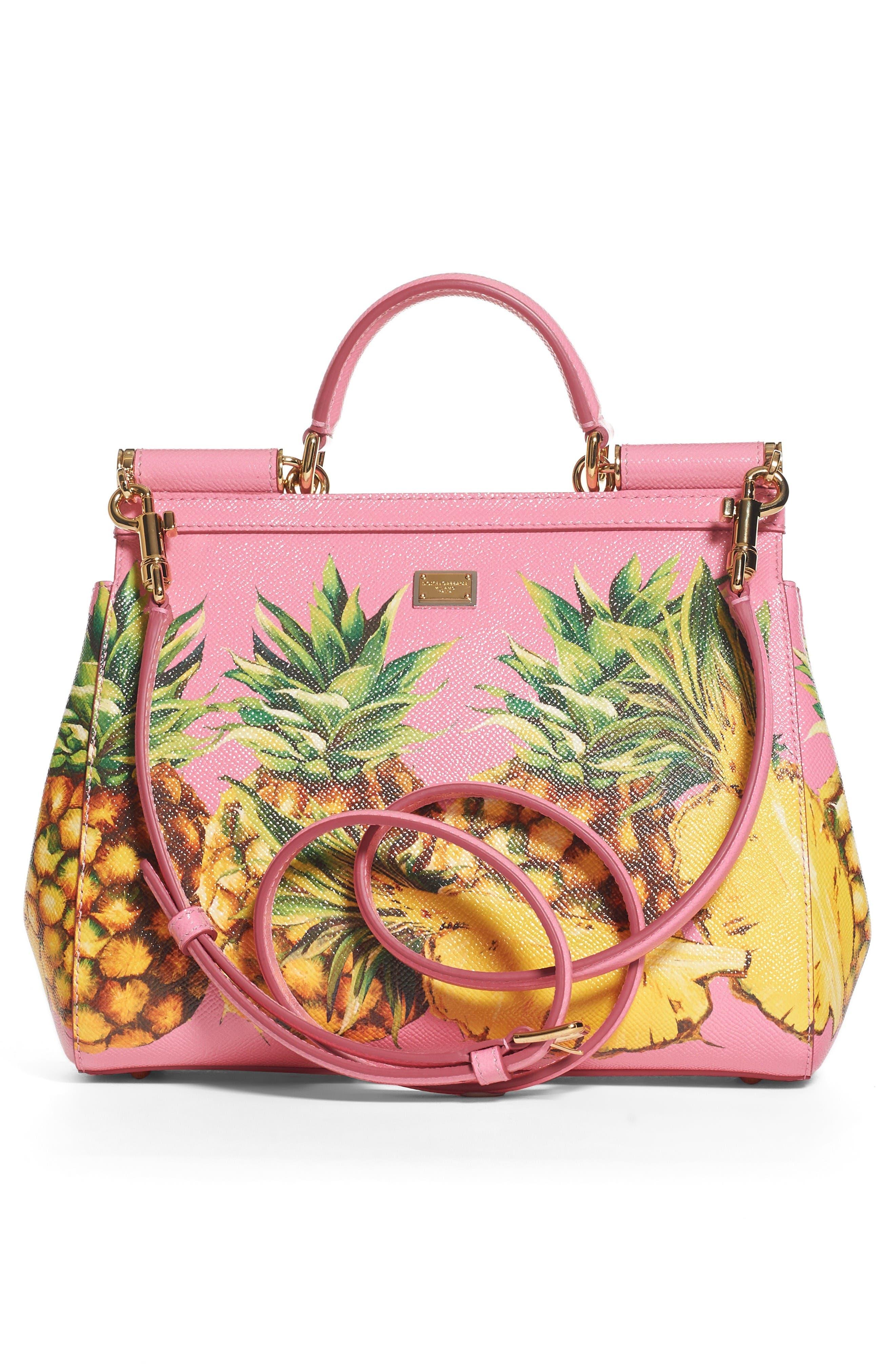Alternate Image 2  - Dolce&Gabbana Miss Sicily Pineapple Leather Satchel