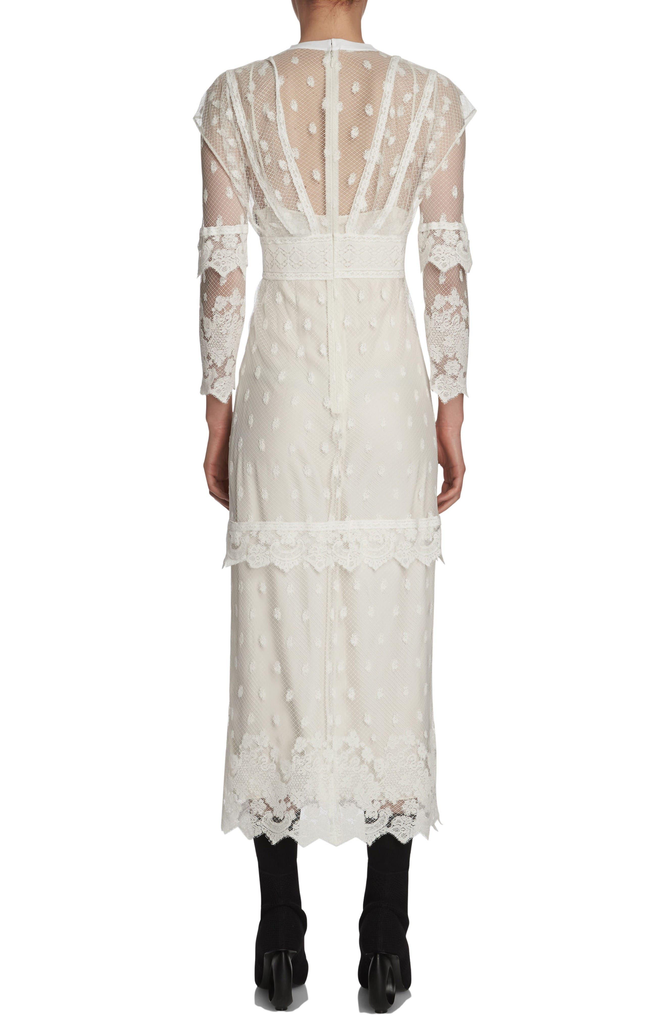 Alternate Image 2  - Burberry Lace Midi Dress