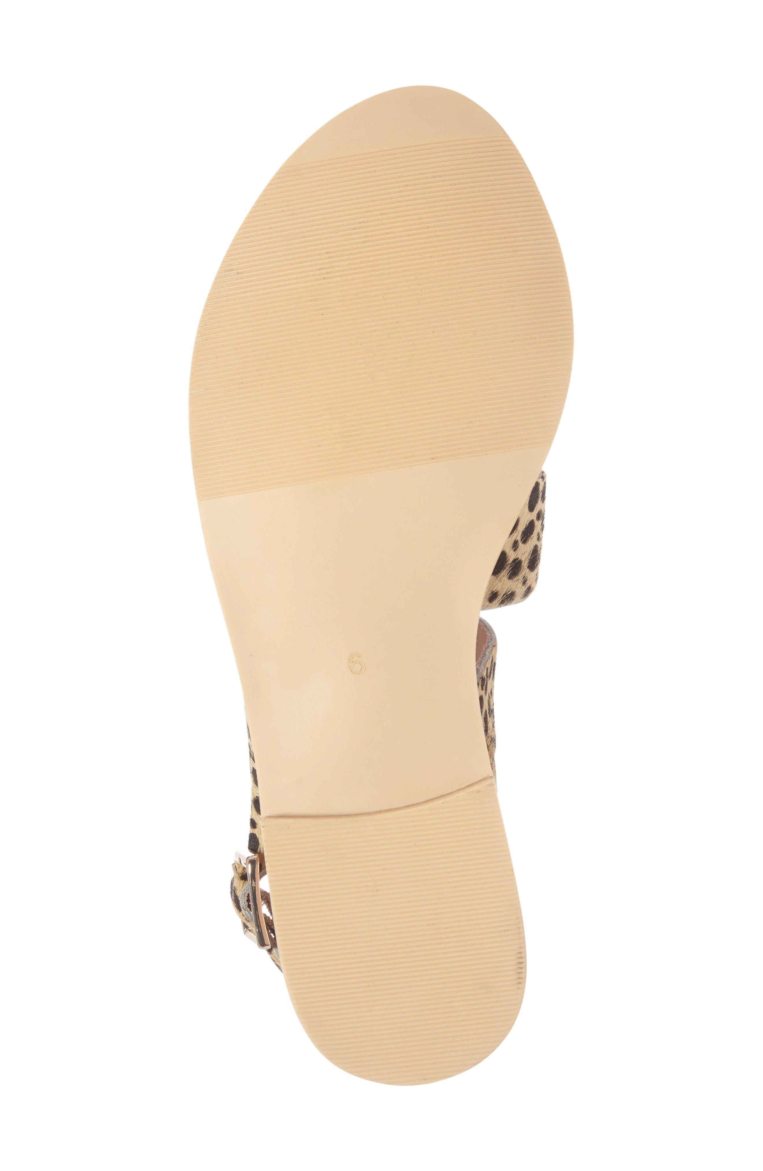 Owen Genuine Calf Hair Sandal,                             Alternate thumbnail 4, color,                             Leopard Calf Hair
