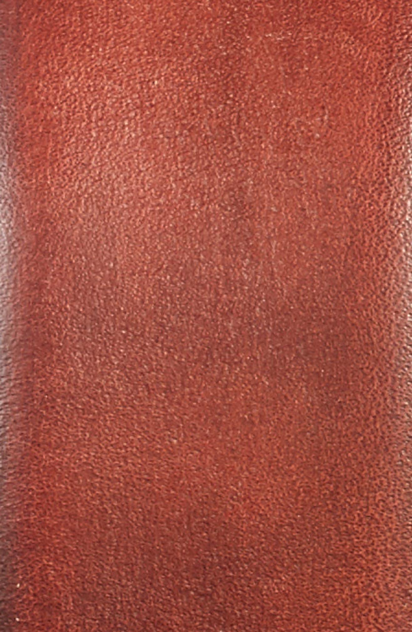 Hand Antiqued Leather Belt,                             Alternate thumbnail 2, color,                             Brown