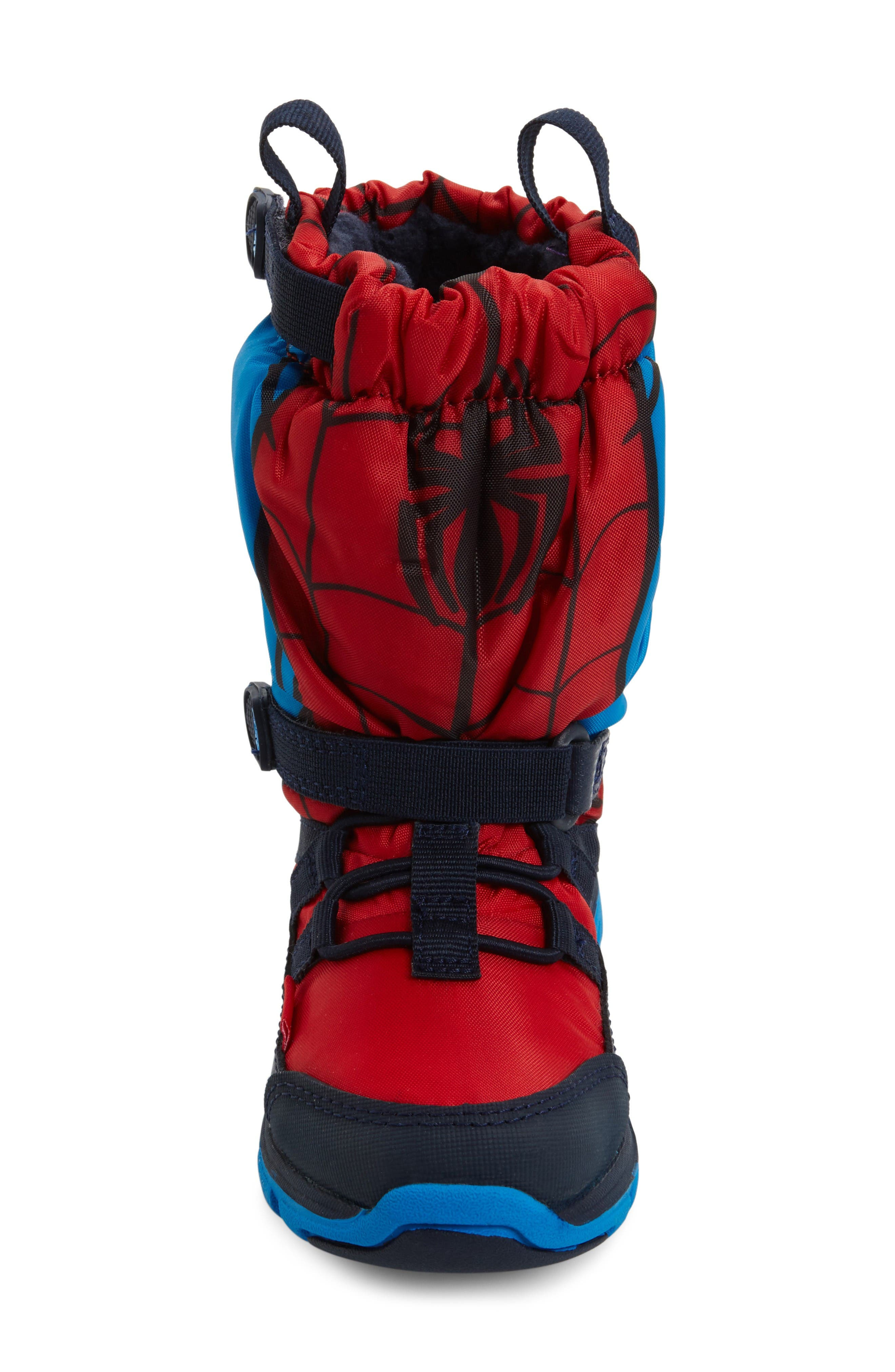 Alternate Image 3  - Stride Rite Made2Play® Spiderman Water Resistant Boot (Baby, Walker, Toddler & Little Kid)