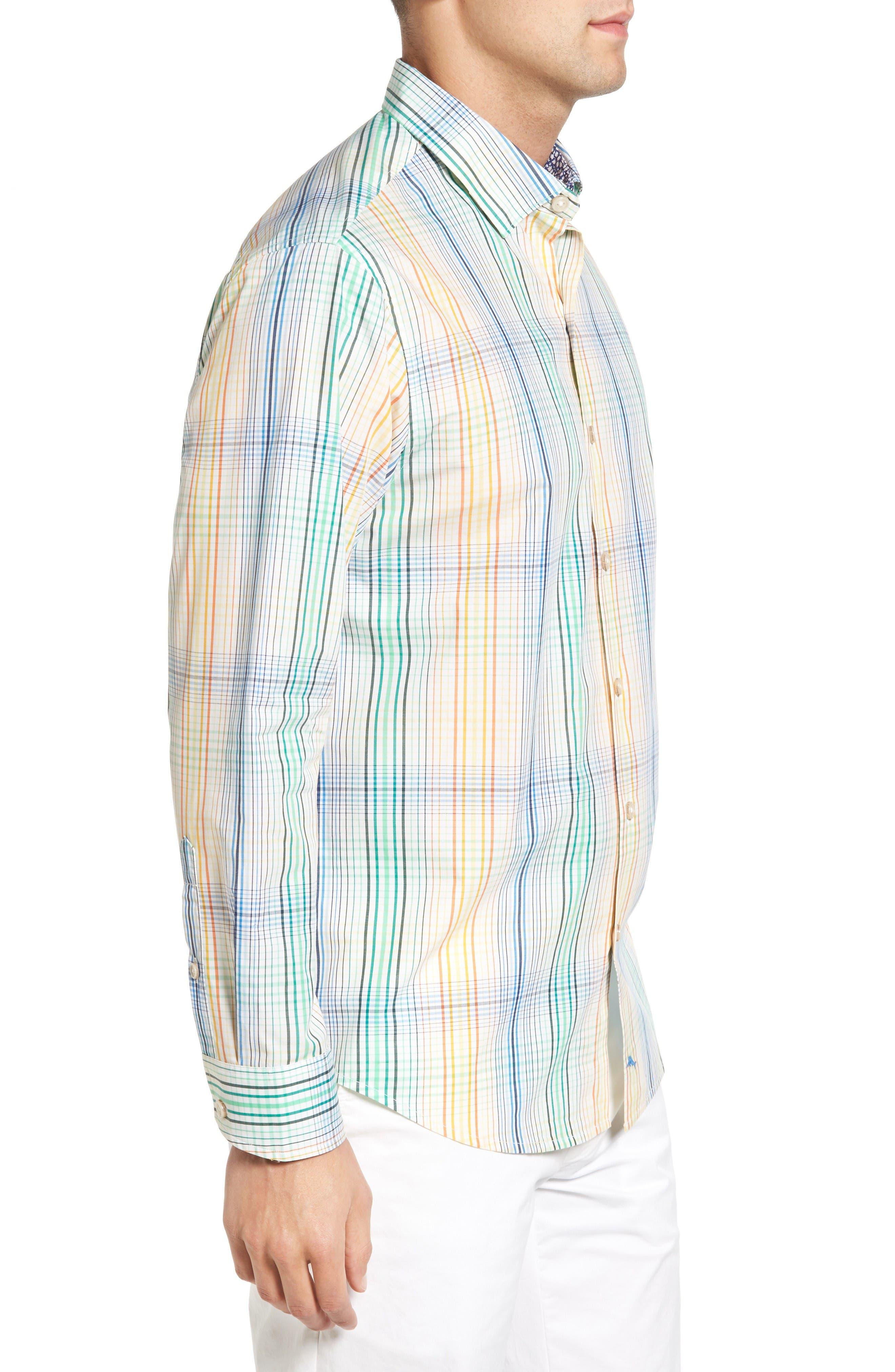Alternate Image 3  - Tommy Bahama Metala Plaid Sport Shirt