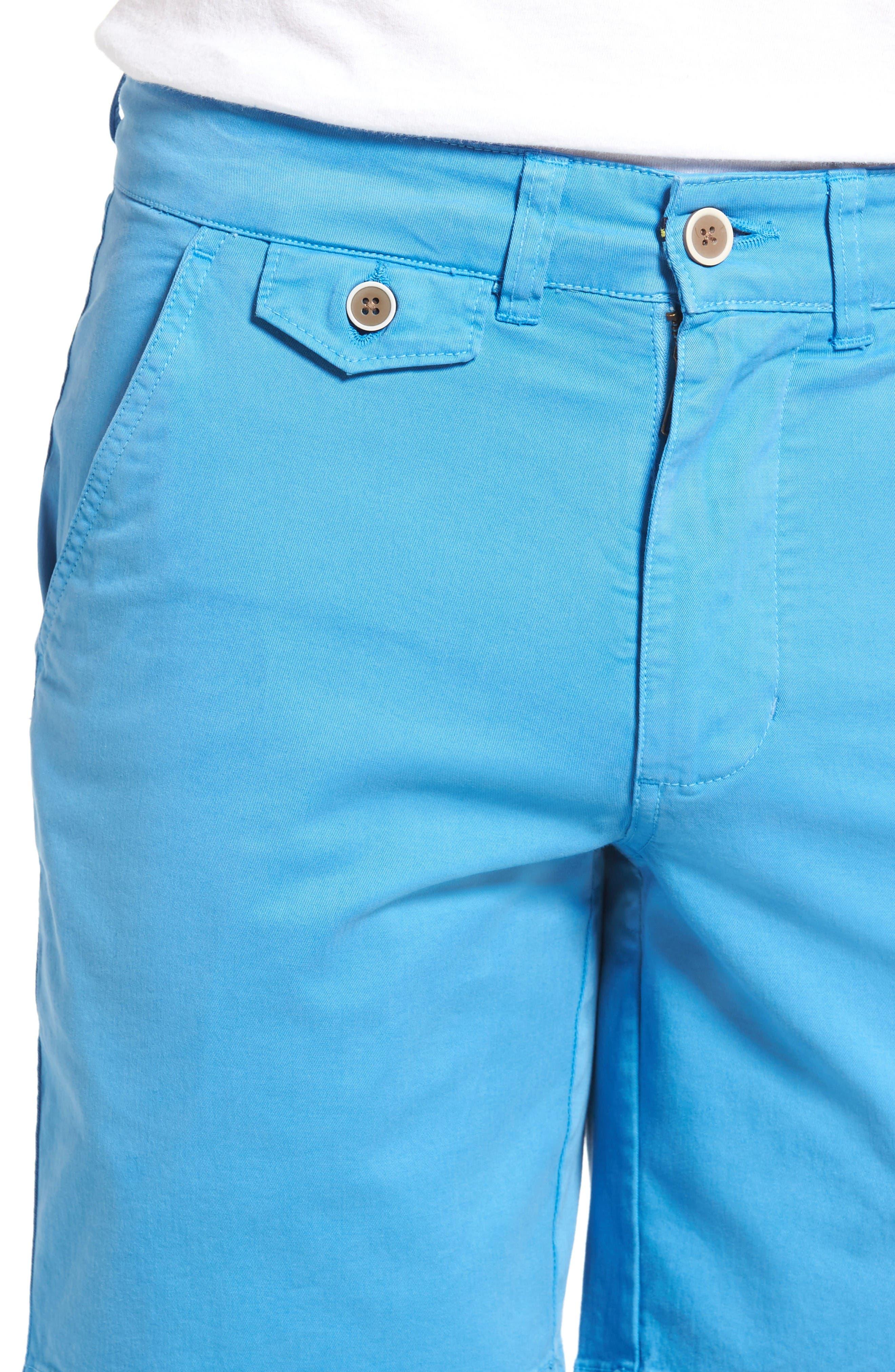'Sunny' Stretch Chino Shorts,                             Alternate thumbnail 4, color,                             Hurricane