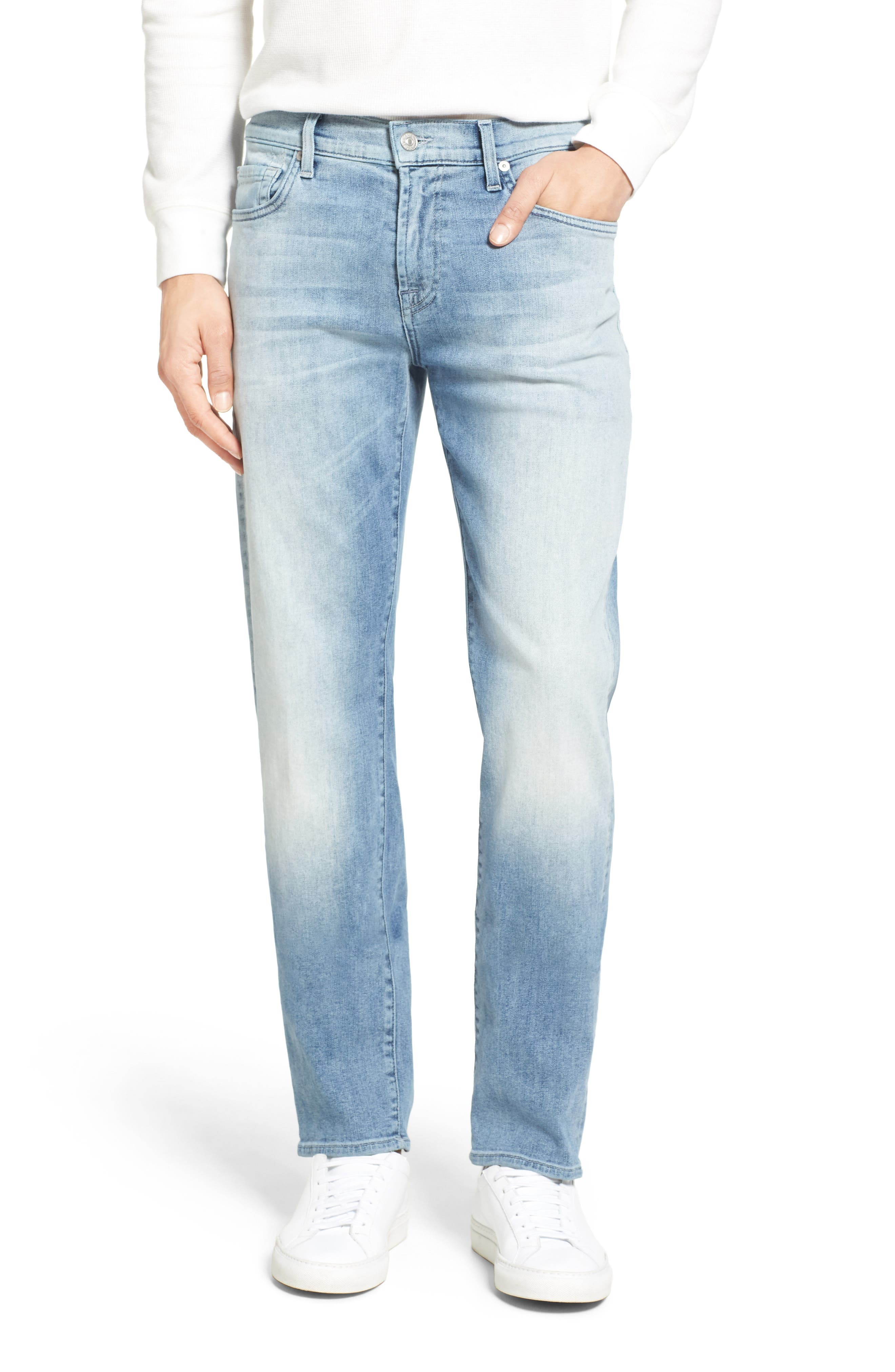 7 For All Mankind® Slimmy Luxe Performance Slim Fit Jeans (Sundrenched)