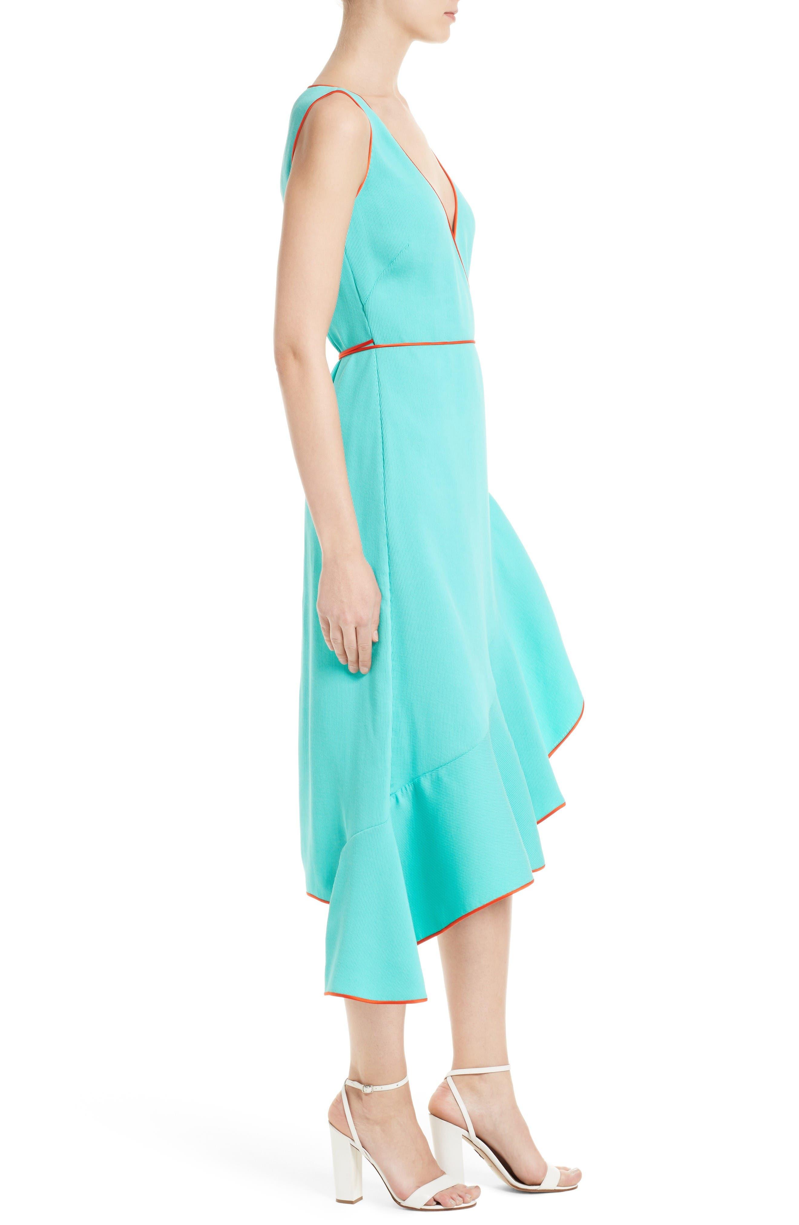 Alternate Image 3  - Diane von Furstenberg Asymmetrical Ruffle Wrap Midi Dress