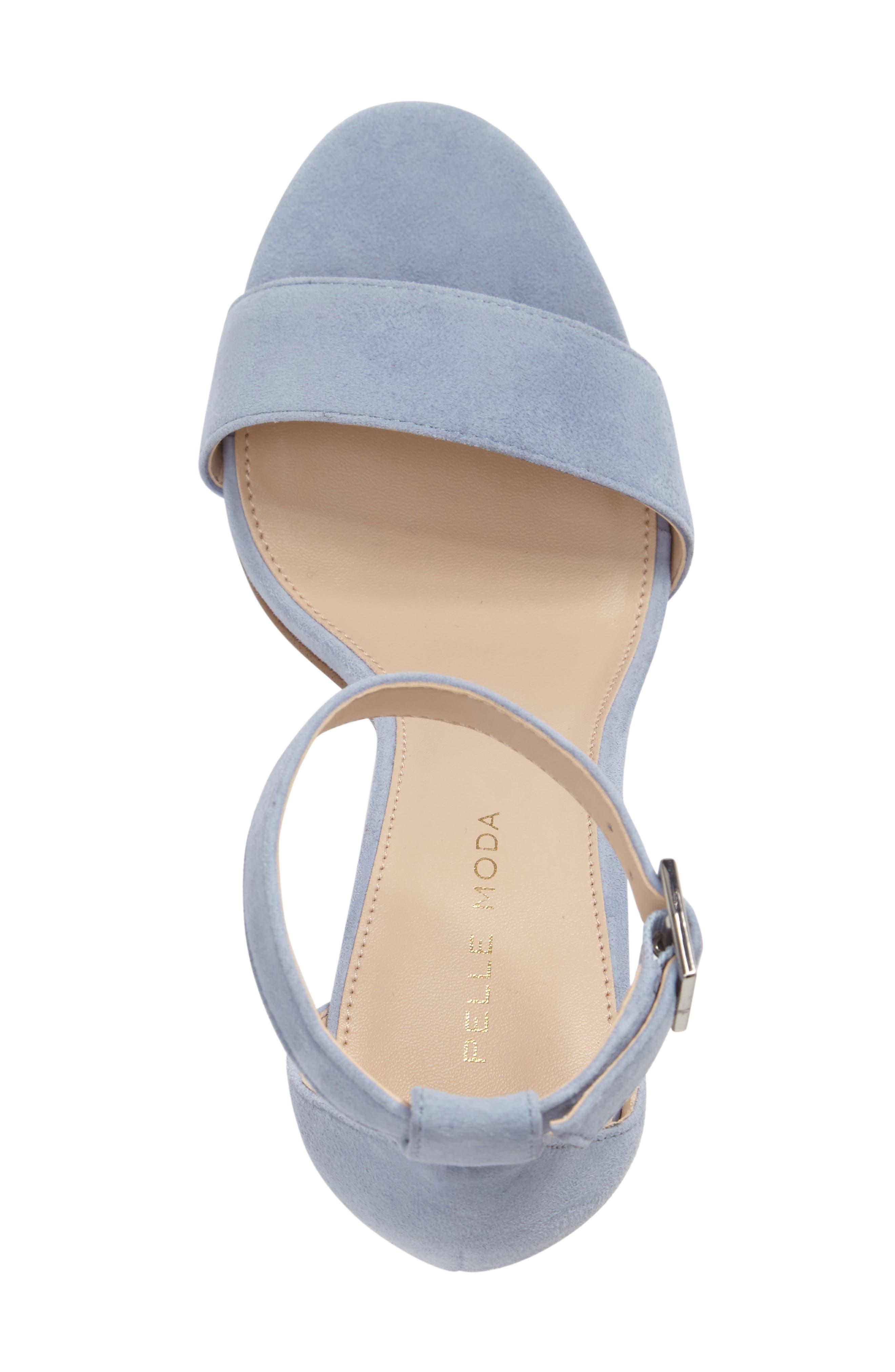 'Bonnie' Ankle Strap Sandal,                             Alternate thumbnail 3, color,                             Powder Blue Leather