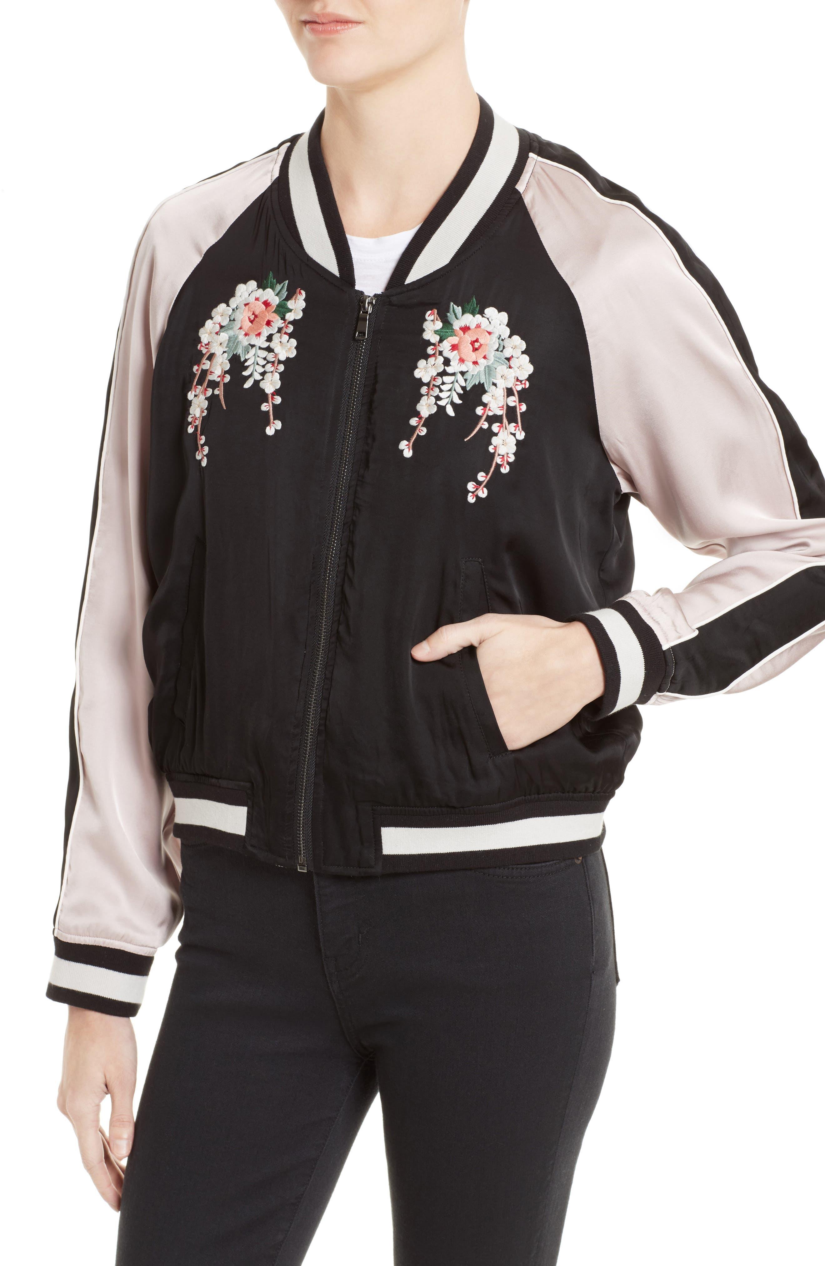 Alternate Image 4  - Joie Juanita Embroidered Bomber Jacket