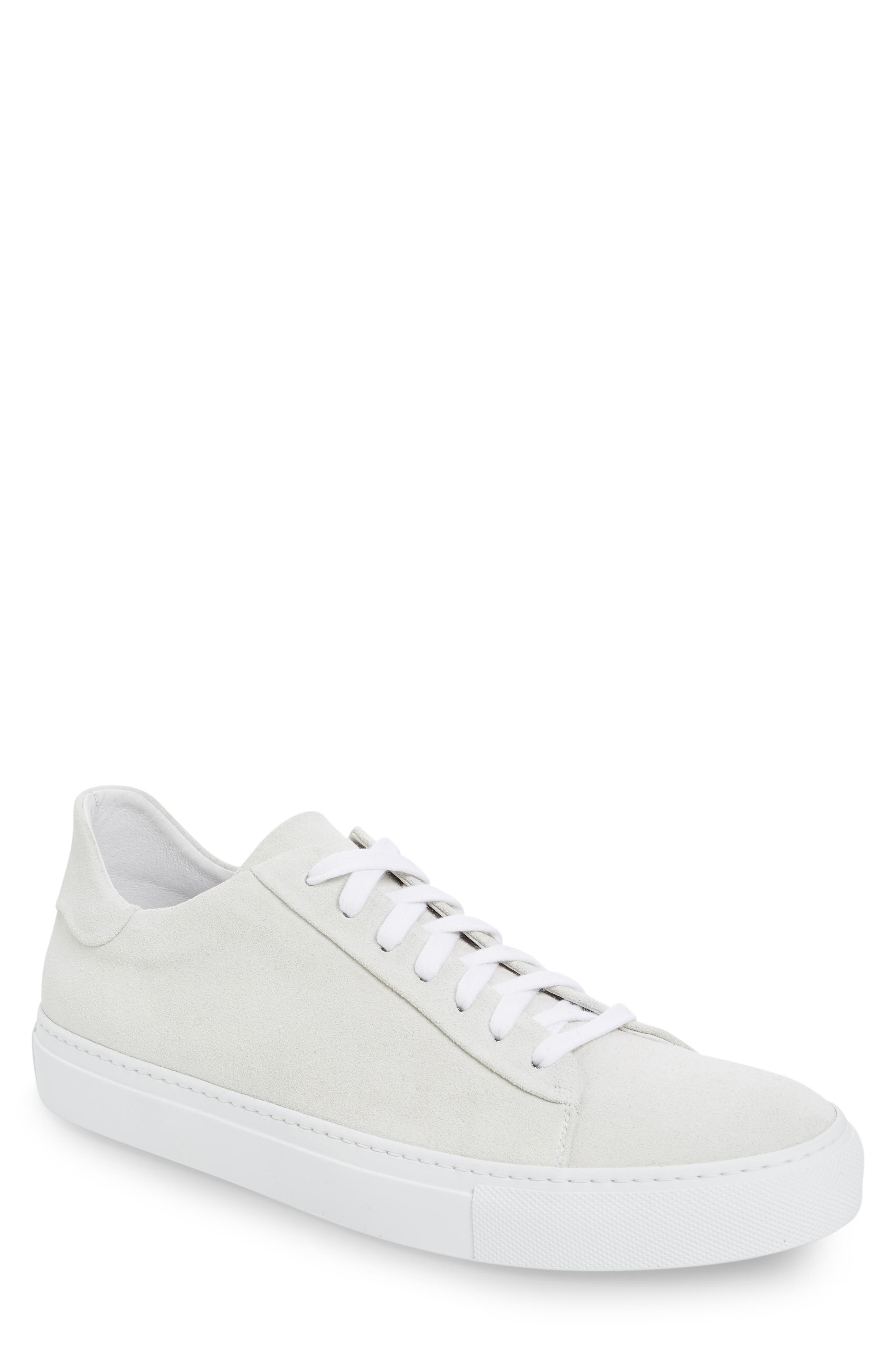 Court Sneaker,                         Main,                         color, White Suede