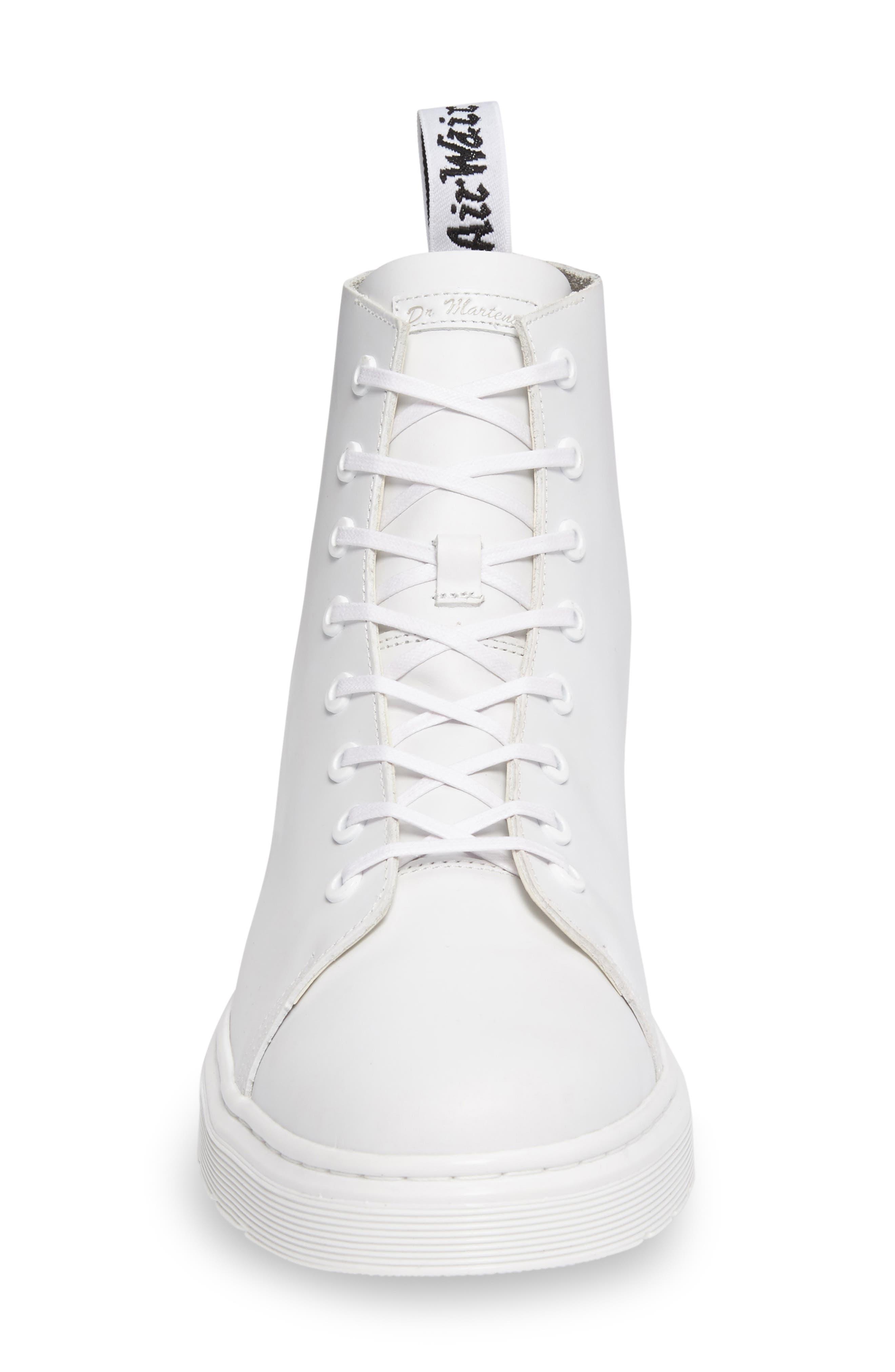 Talib Plain Toe Boot,                             Alternate thumbnail 3, color,                             White Leather