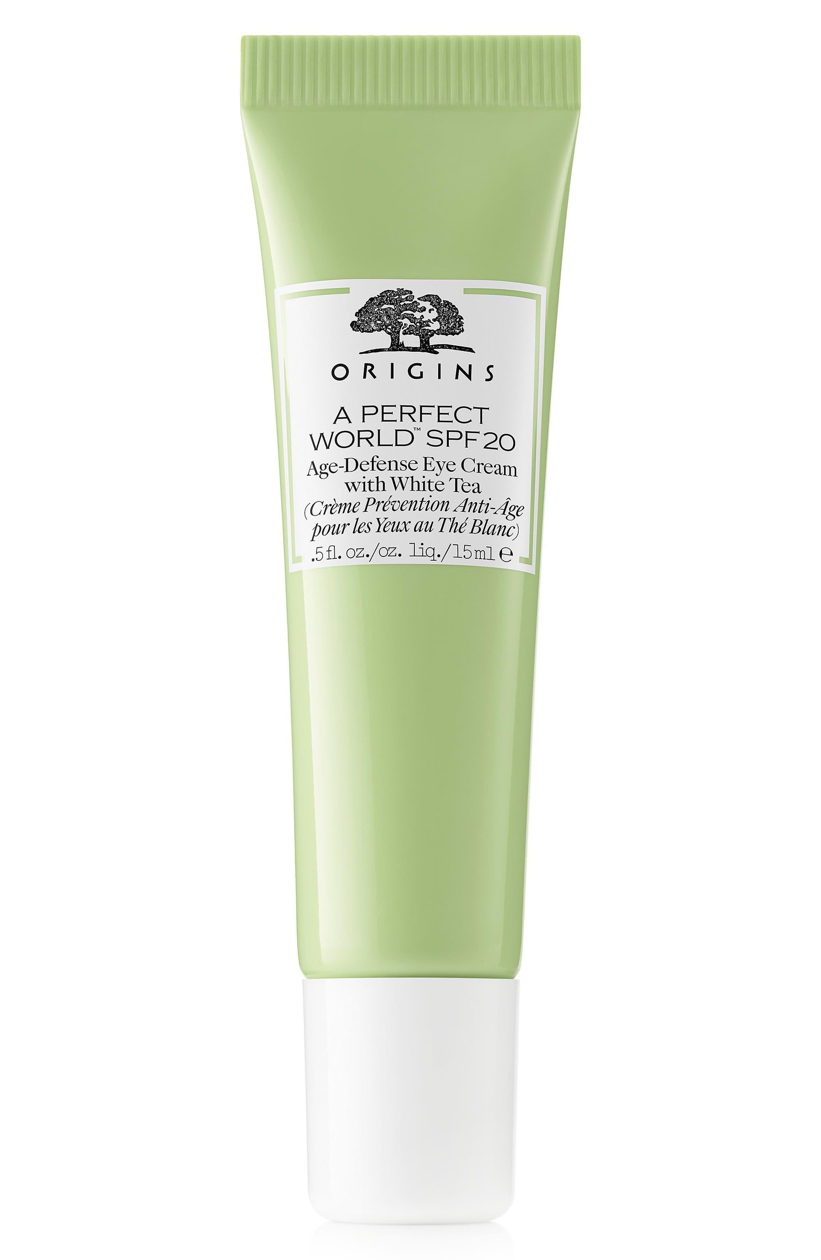 Main Image - Origins A Perfect World™ SPF 20 Age-Defense Eye Cream with White Tea