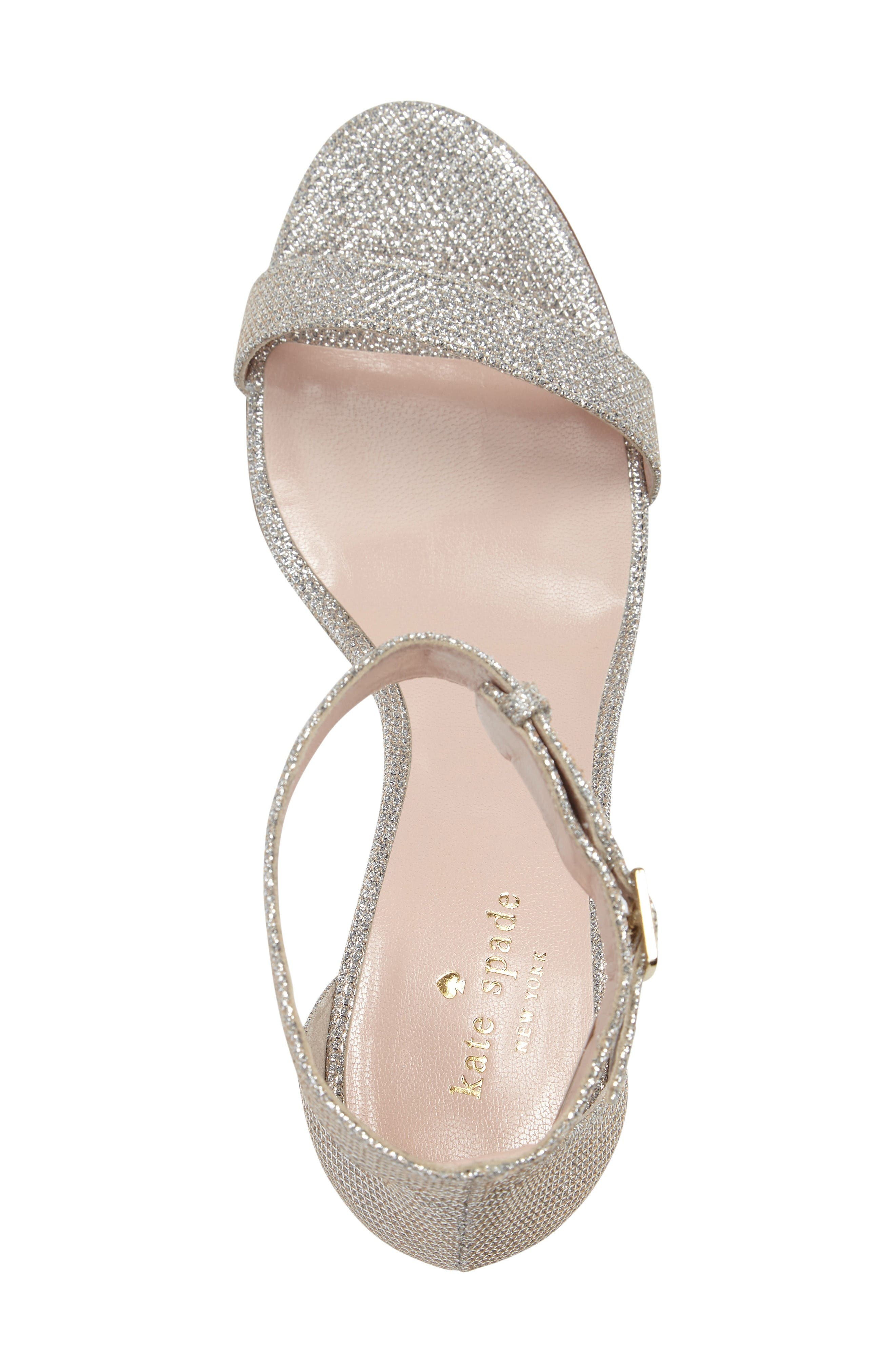 'ronia' wedge sandal,                             Alternate thumbnail 3, color,                             Silver/ Natural