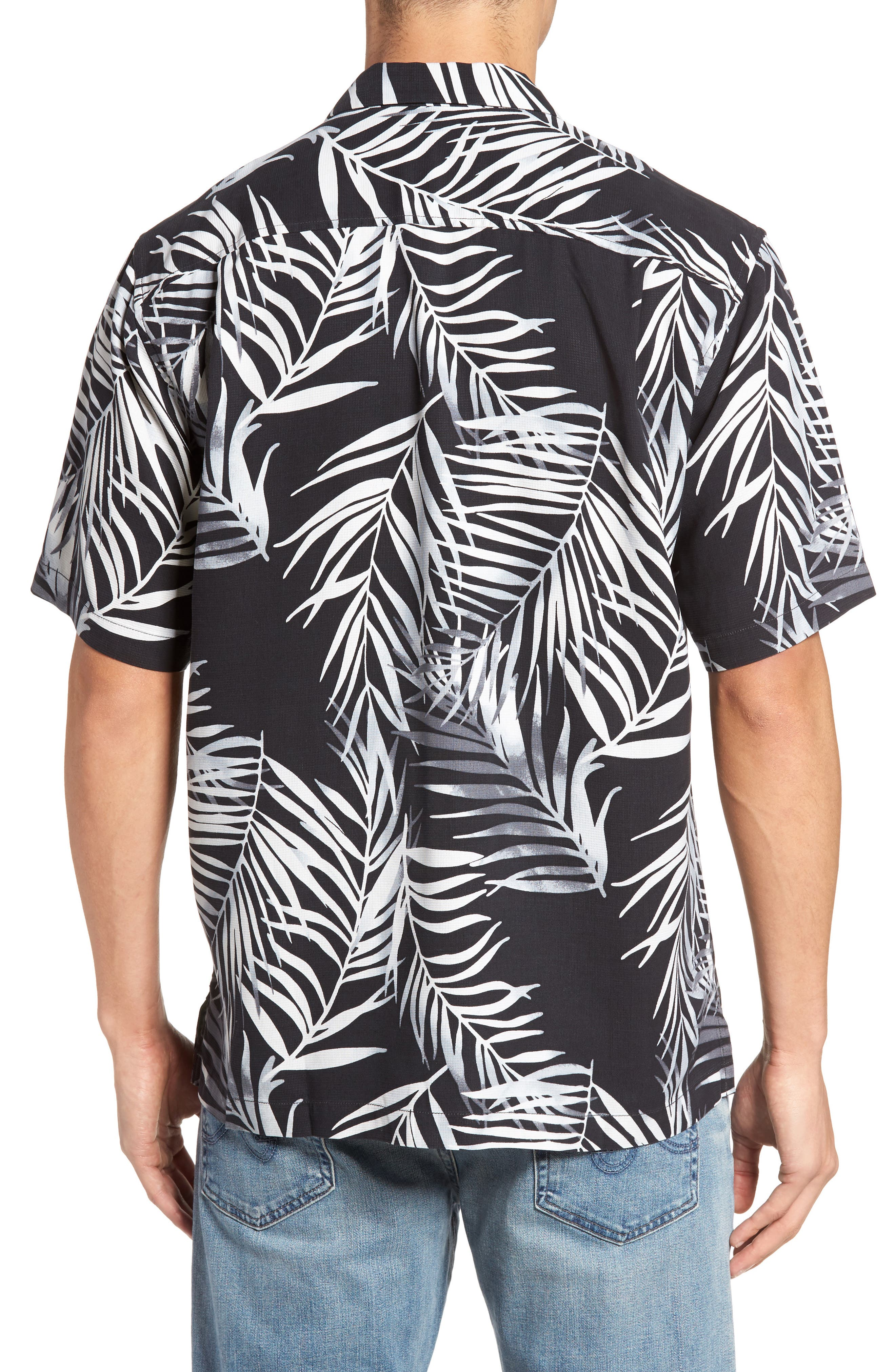 Alternate Image 2  - Tommy Bahama Beyond Frond Silk Camp Shirt
