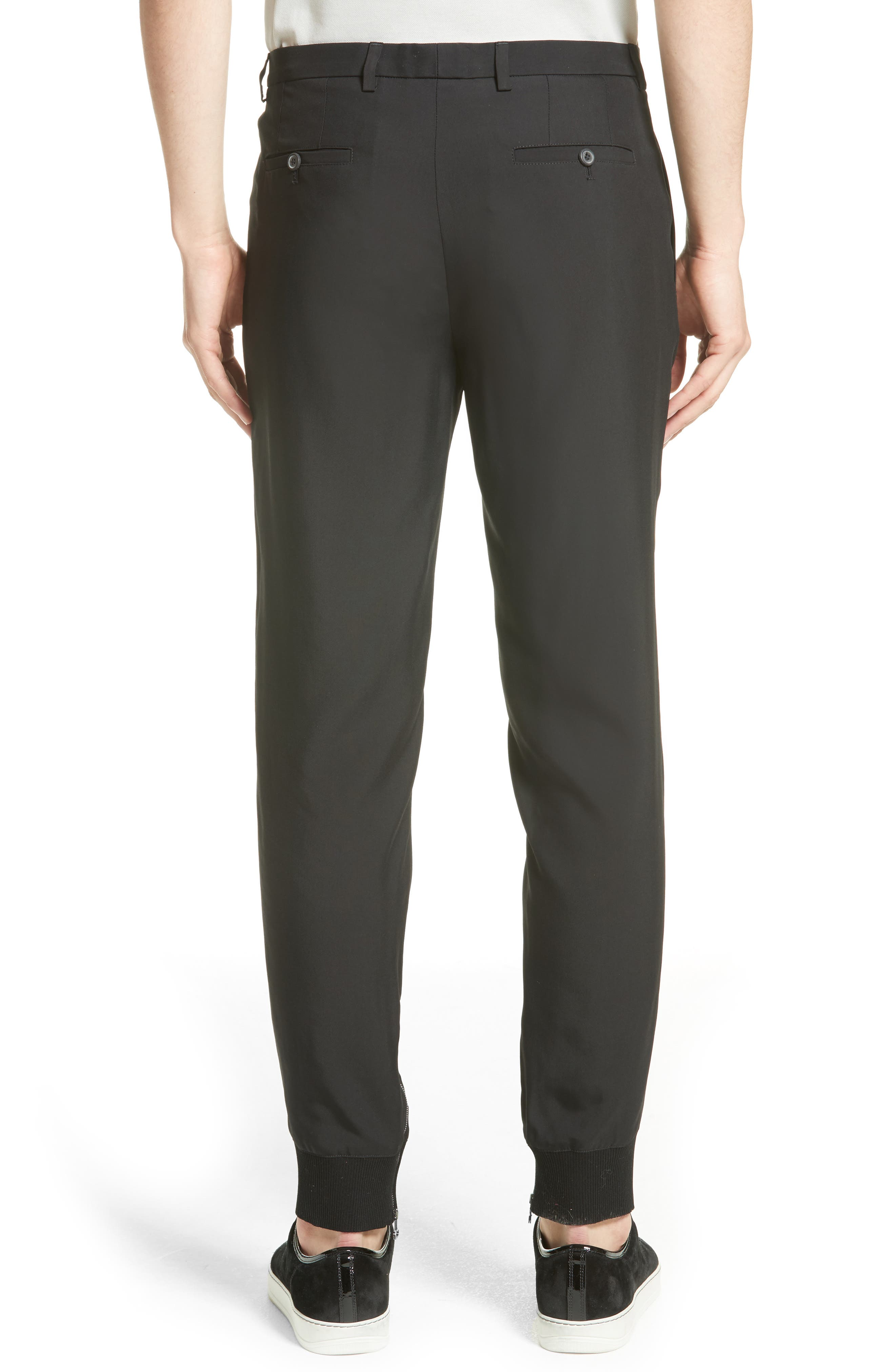 Zip Ankle Jogger Pants,                             Alternate thumbnail 2, color,                             Black