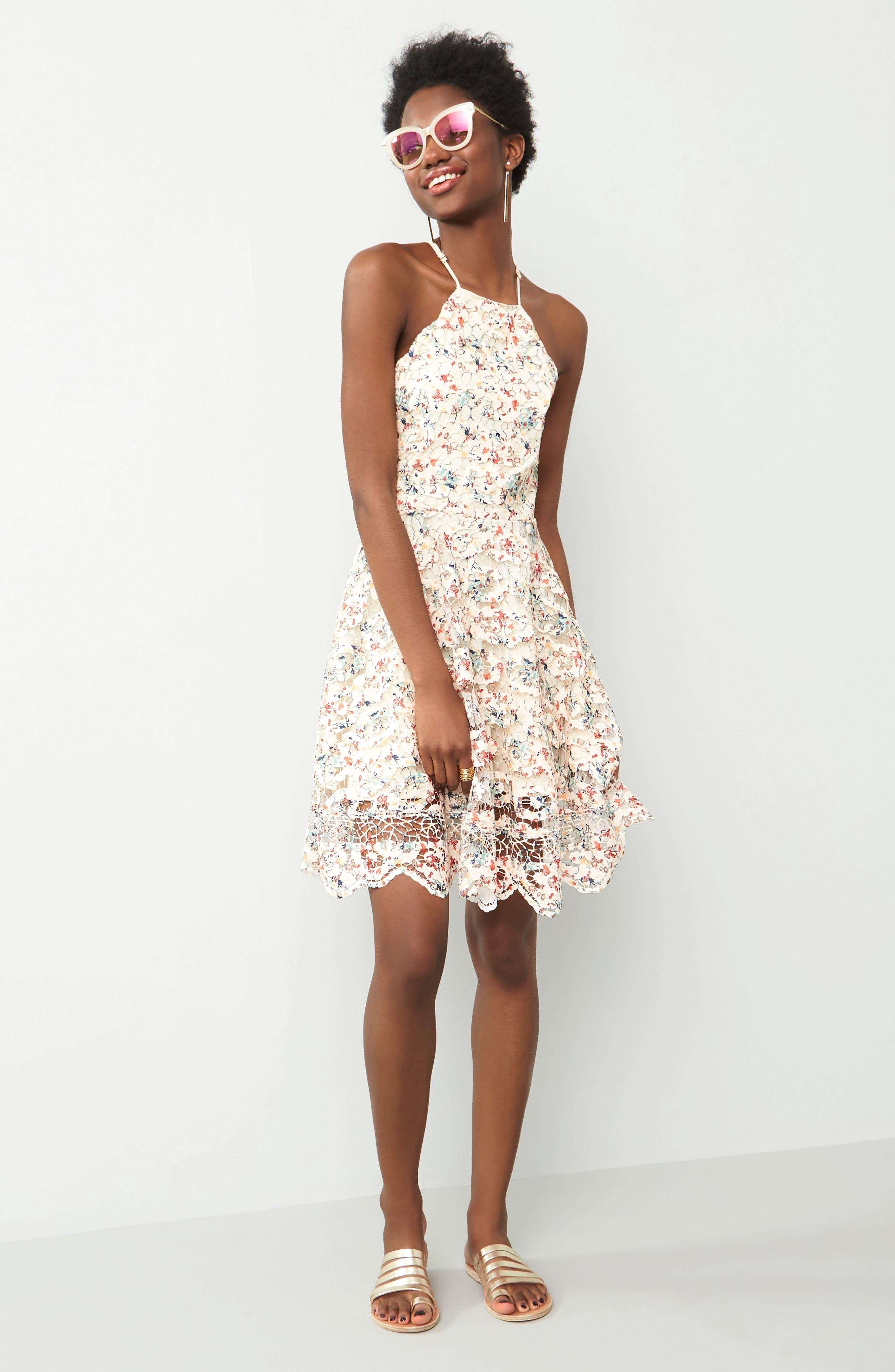 Alternate Image 2  - Tularosa Cyrus Lace Skater Dress
