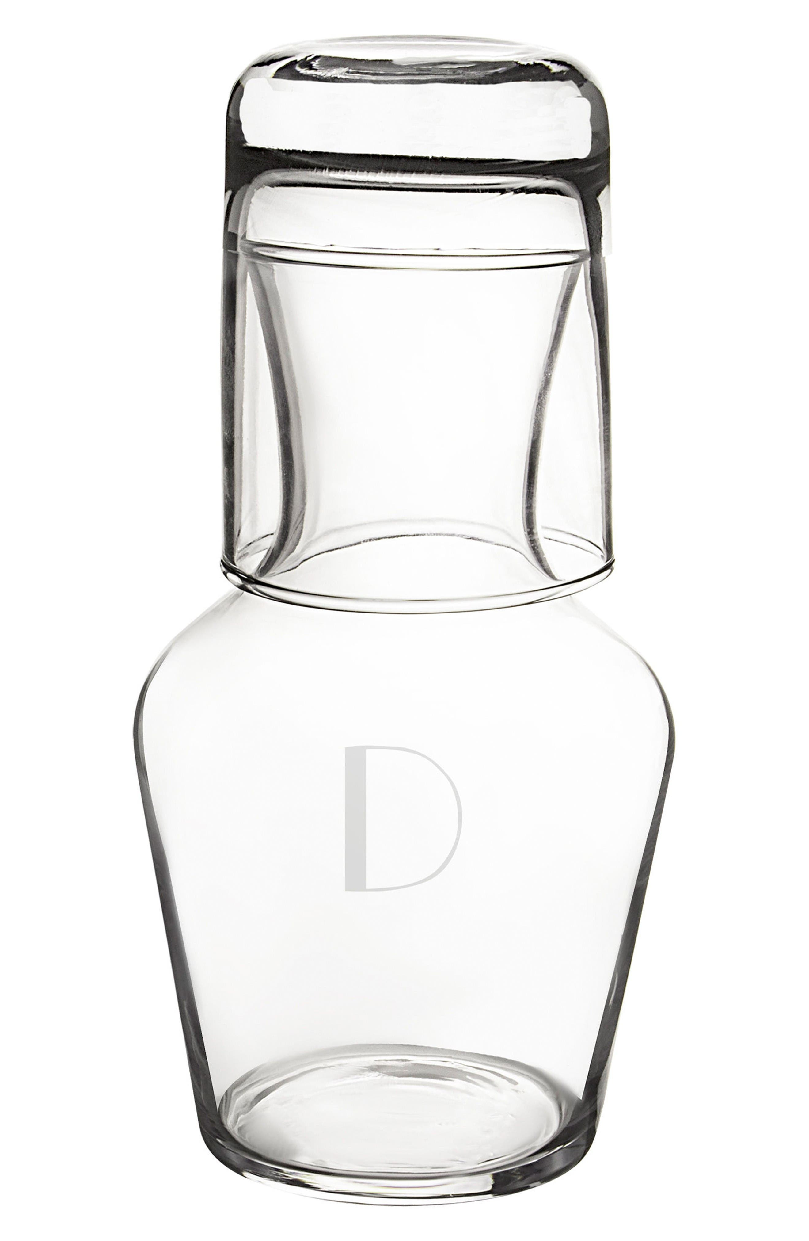 Bedside Water Carafe & Glass Set,                         Main,                         color, Clear-D
