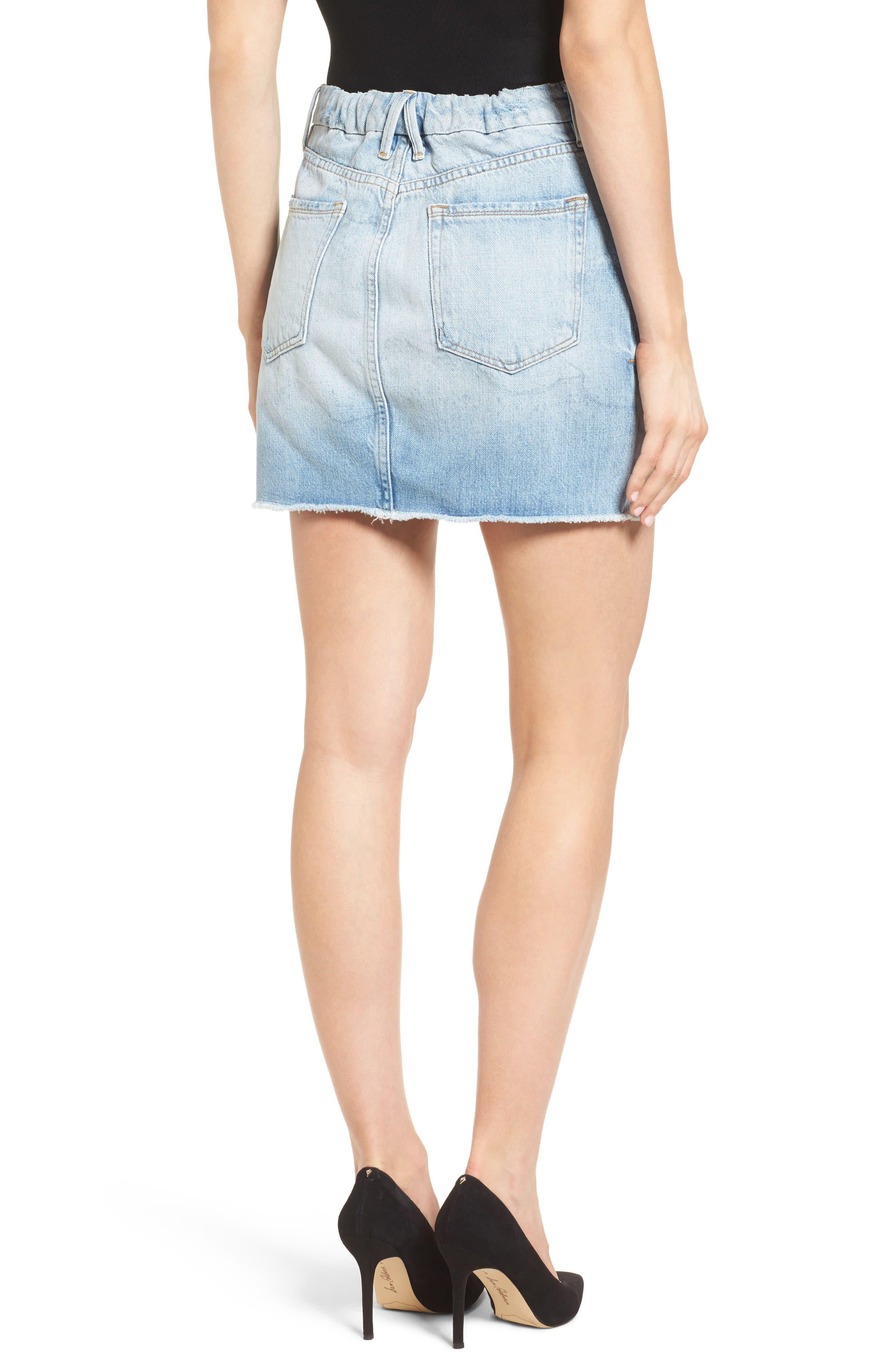 The Mini High Waist Denim Miniskirt,                             Alternate thumbnail 2, color,                             Blue033
