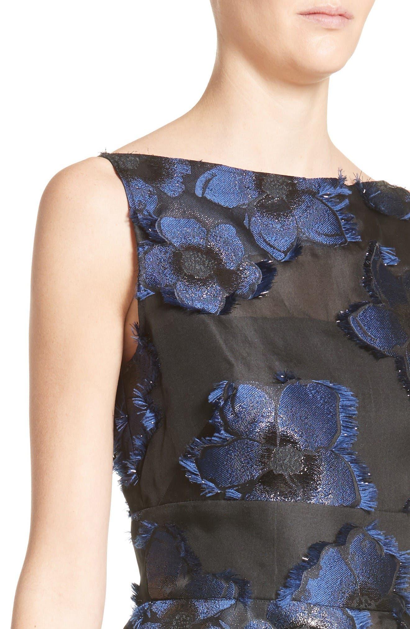 Alternate Image 6  - Lela Rose Metallic Floral Fil Coupé Top