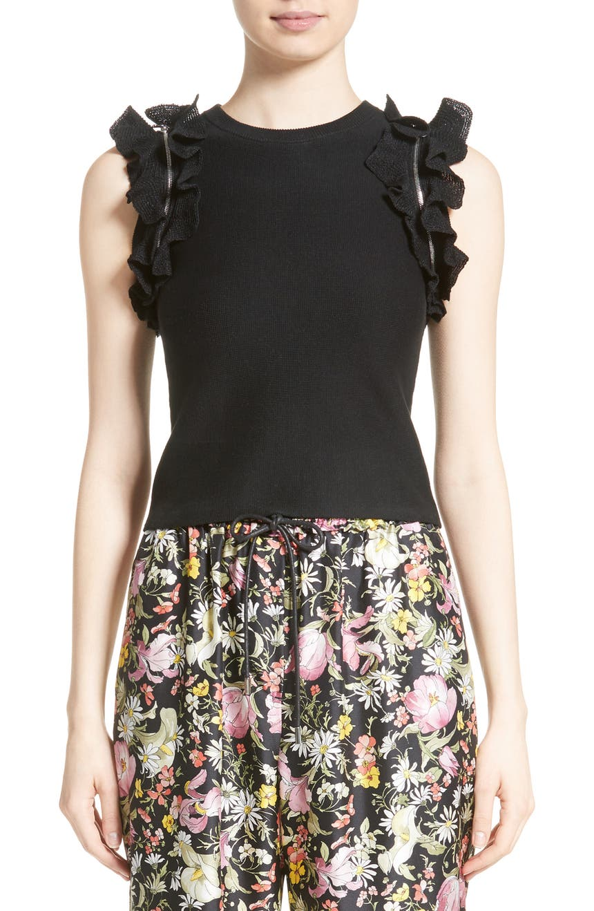 Main Image - 3.1 Phillip Lim Zipper Detail Ruffle Top