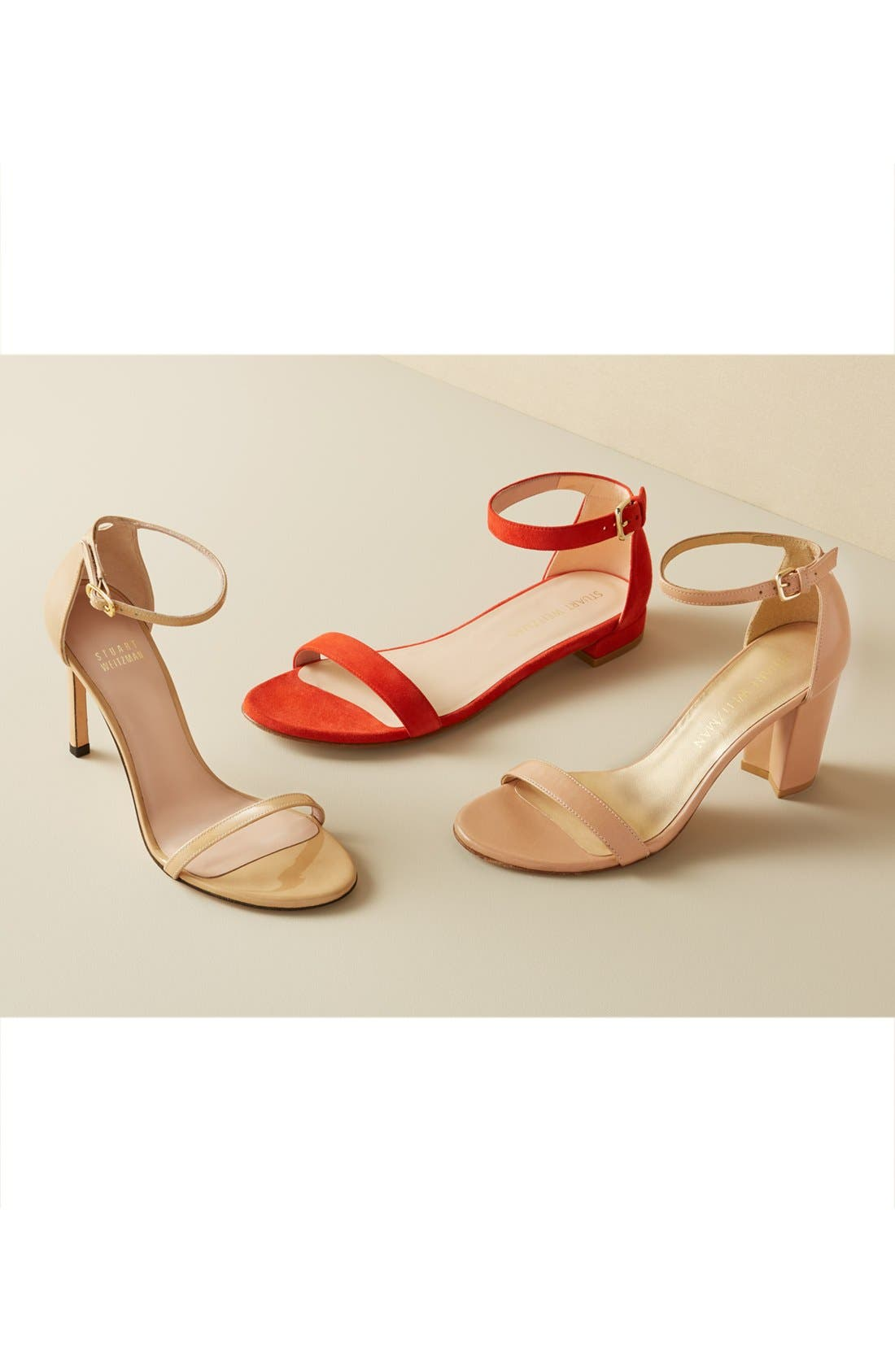 NearlyNude Ankle Strap Sandal,                             Alternate thumbnail 4, color,