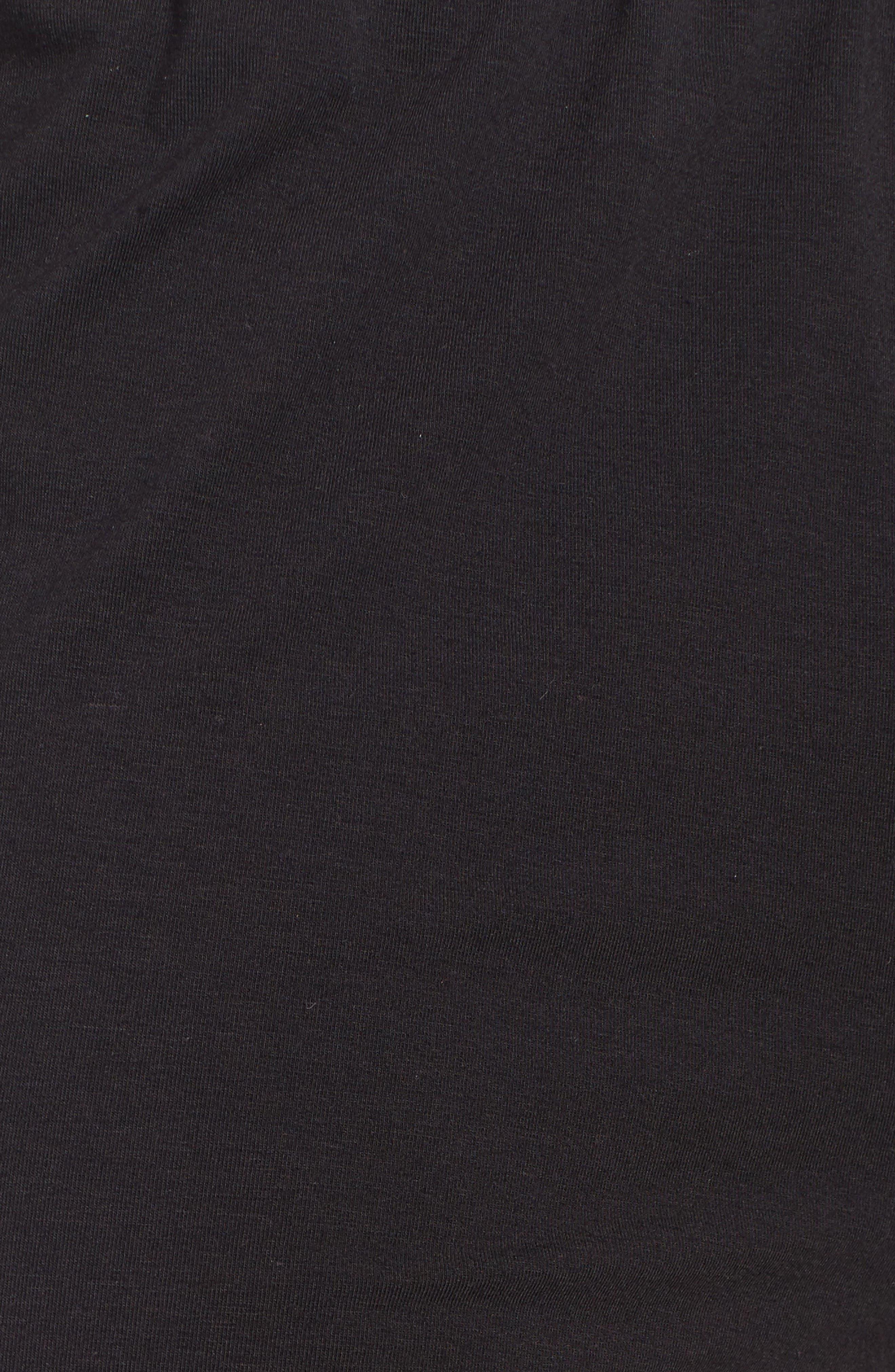Micromodal Blend Lounge Pants,                             Alternate thumbnail 5, color,                             Black