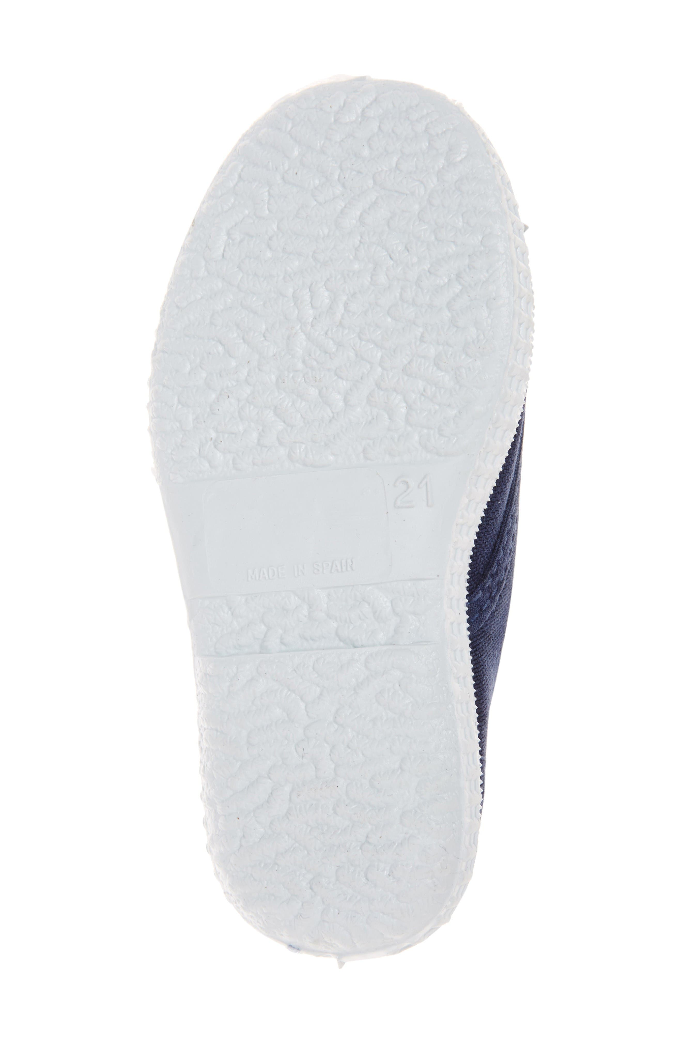 Laceless Slip-On Sneaker,                             Alternate thumbnail 4, color,                             Navy