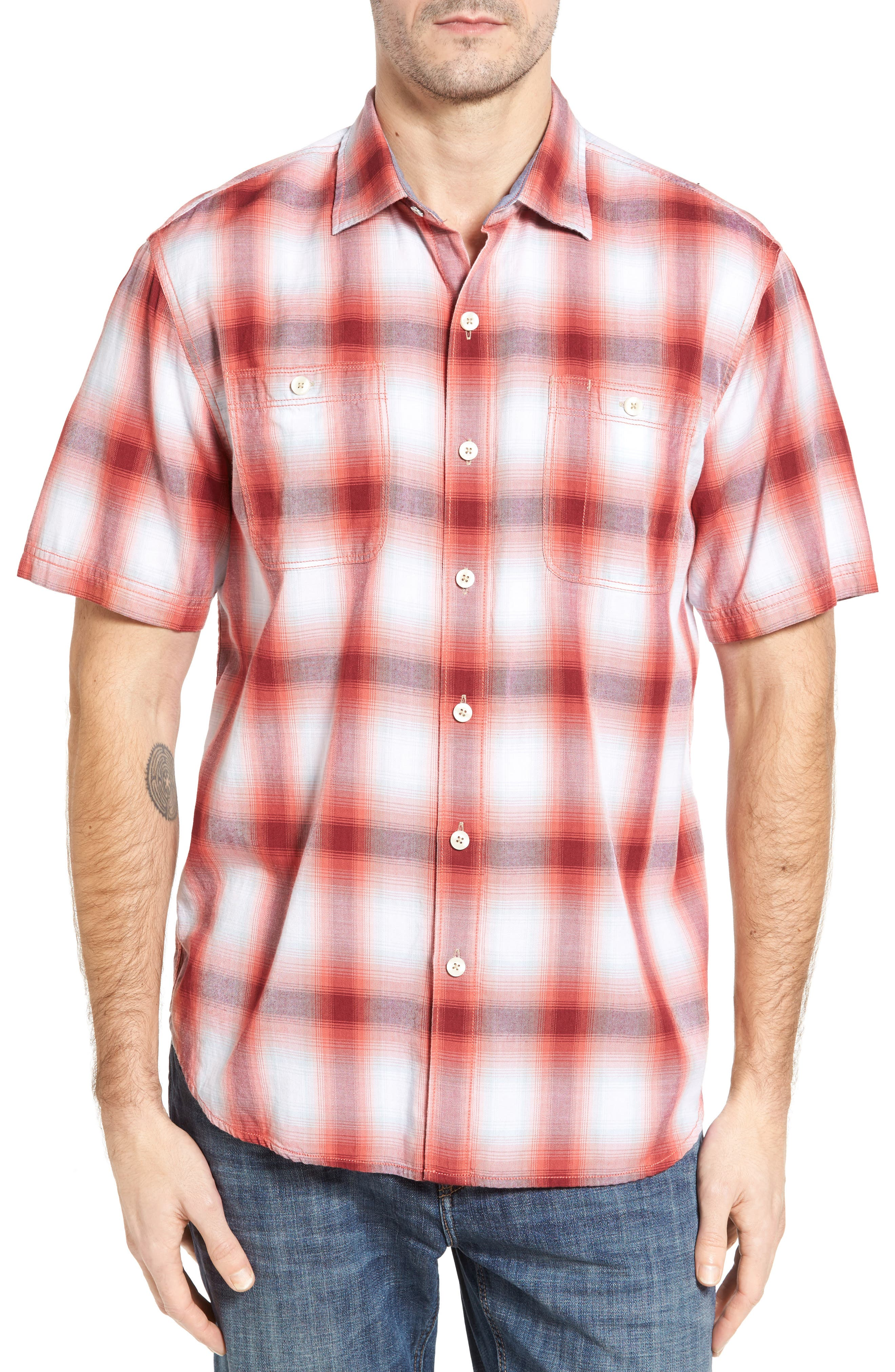 Tommy Bahama Plaid for You Standard Fit Camp Shirt