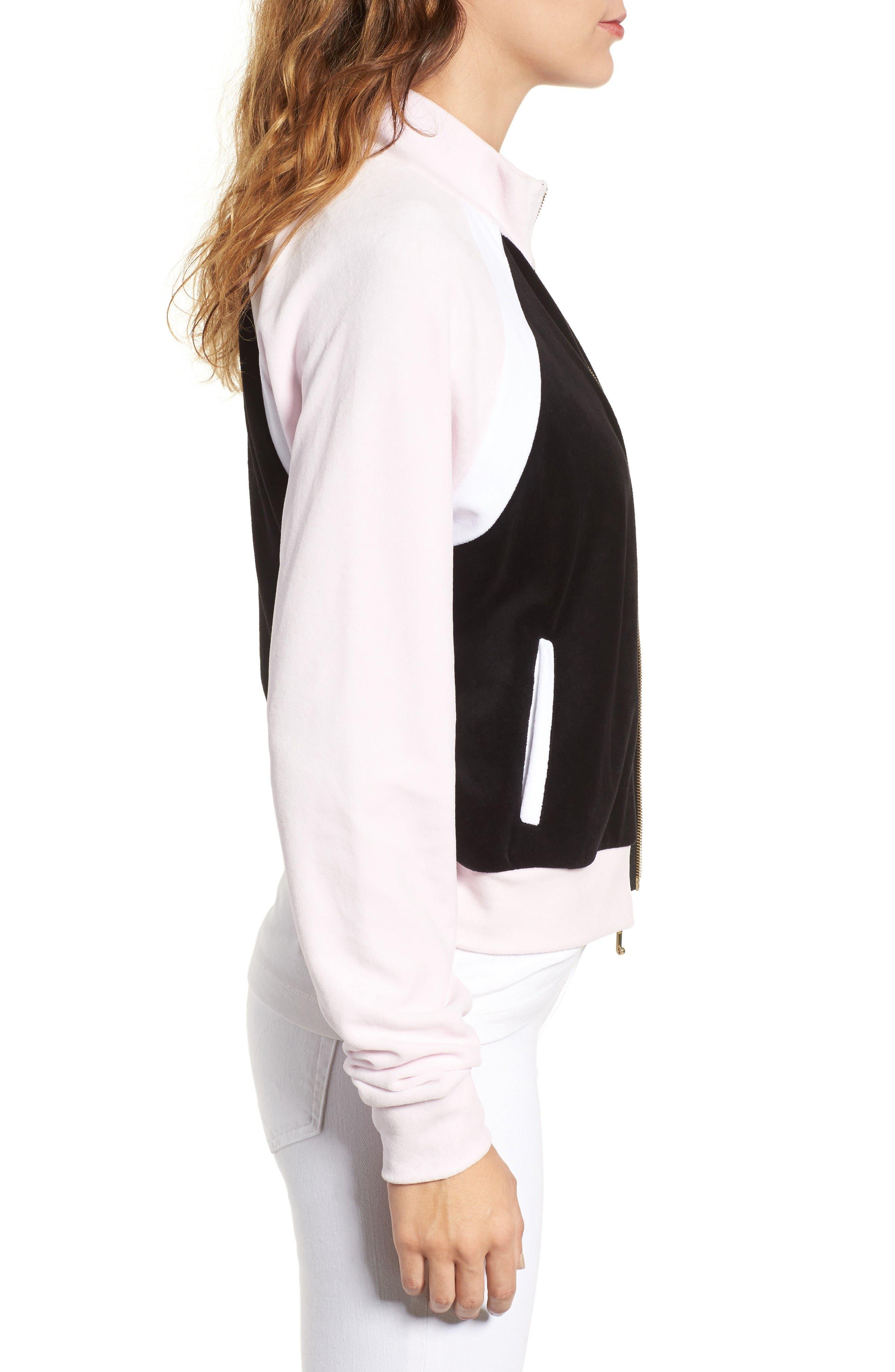 Alternate Image 3  - Juicy Couture Colorblock Velour Track Jacket