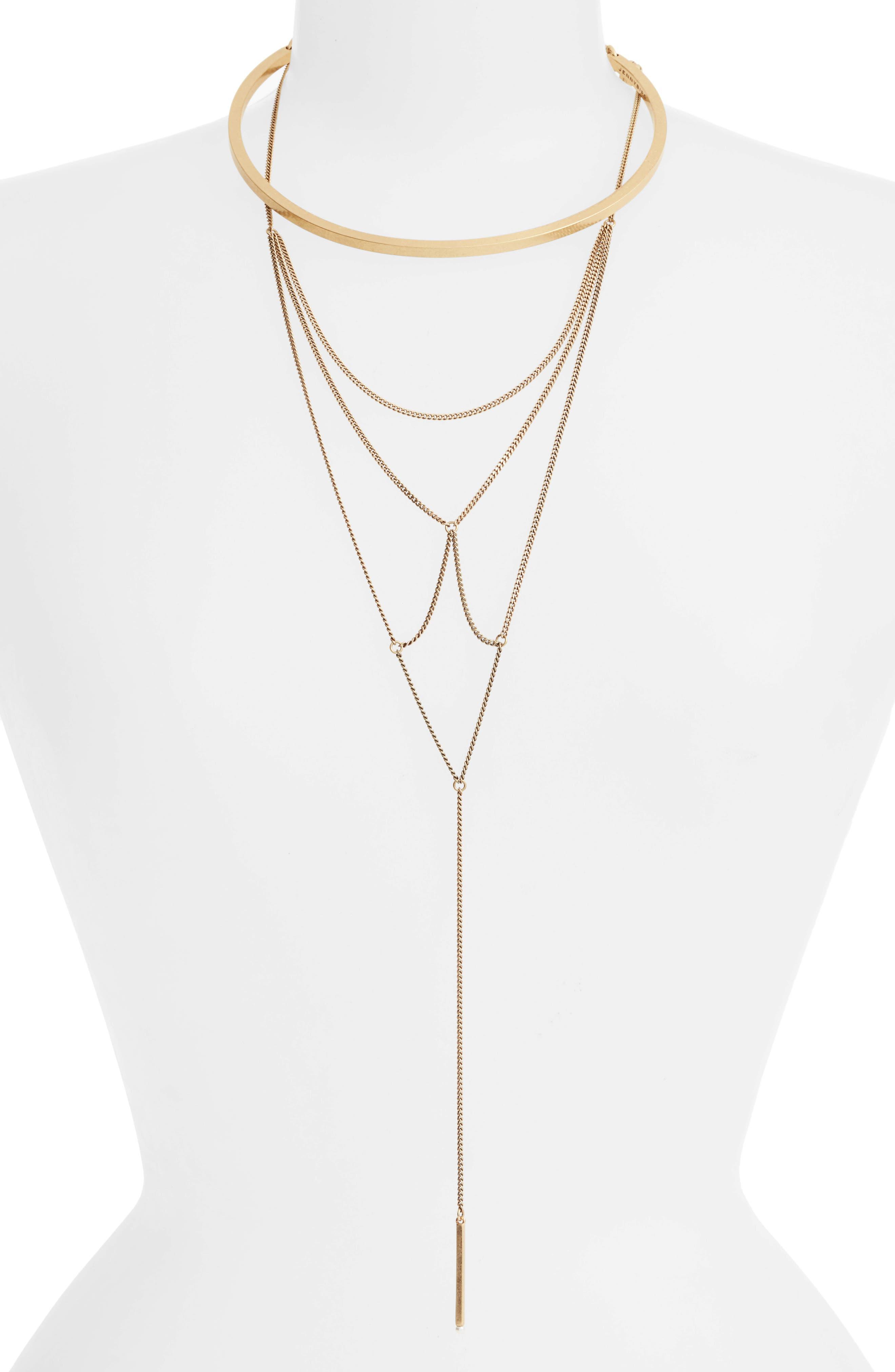 Neith Convertible Necklace,                             Main thumbnail 1, color,                             Gold