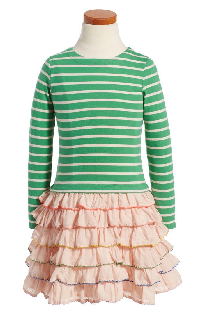 Mini boden stripe ruffle dress toddler girls little for Shop mini boden