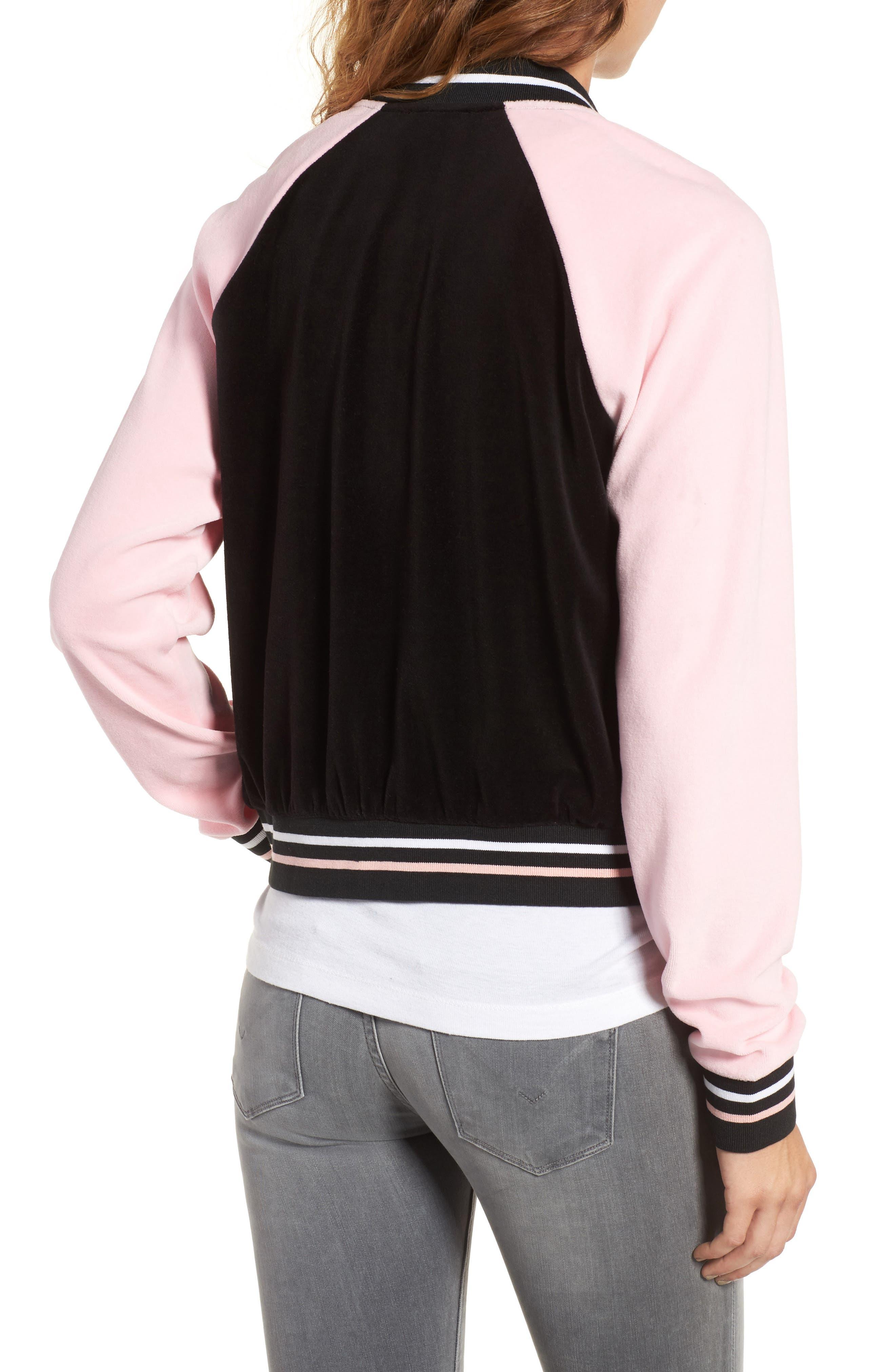 Alternate Image 2  - Juicy Couture Colorblock Velour Track Jacket