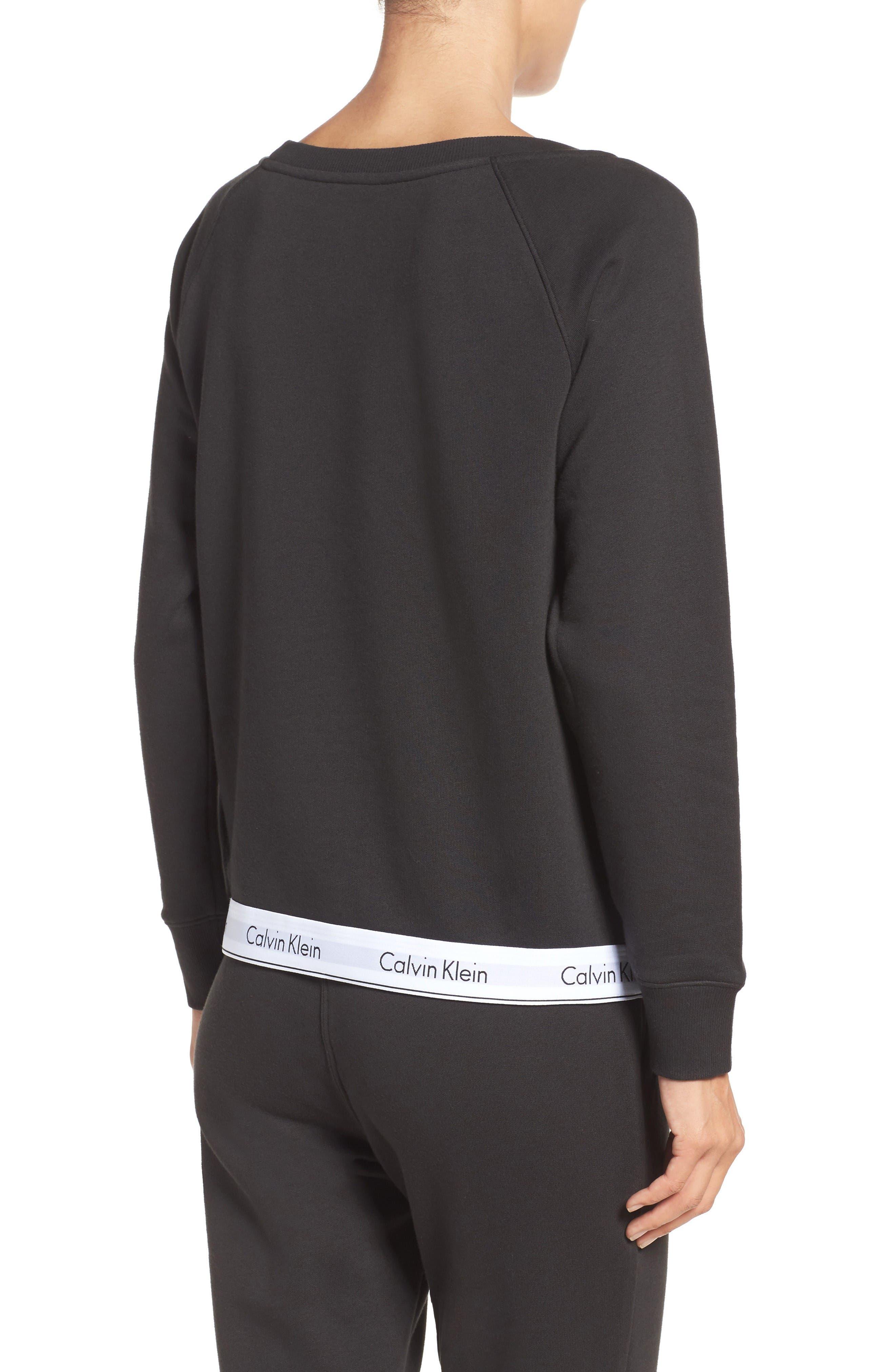 Lounge Sweatshirt,                             Alternate thumbnail 2, color,                             Black