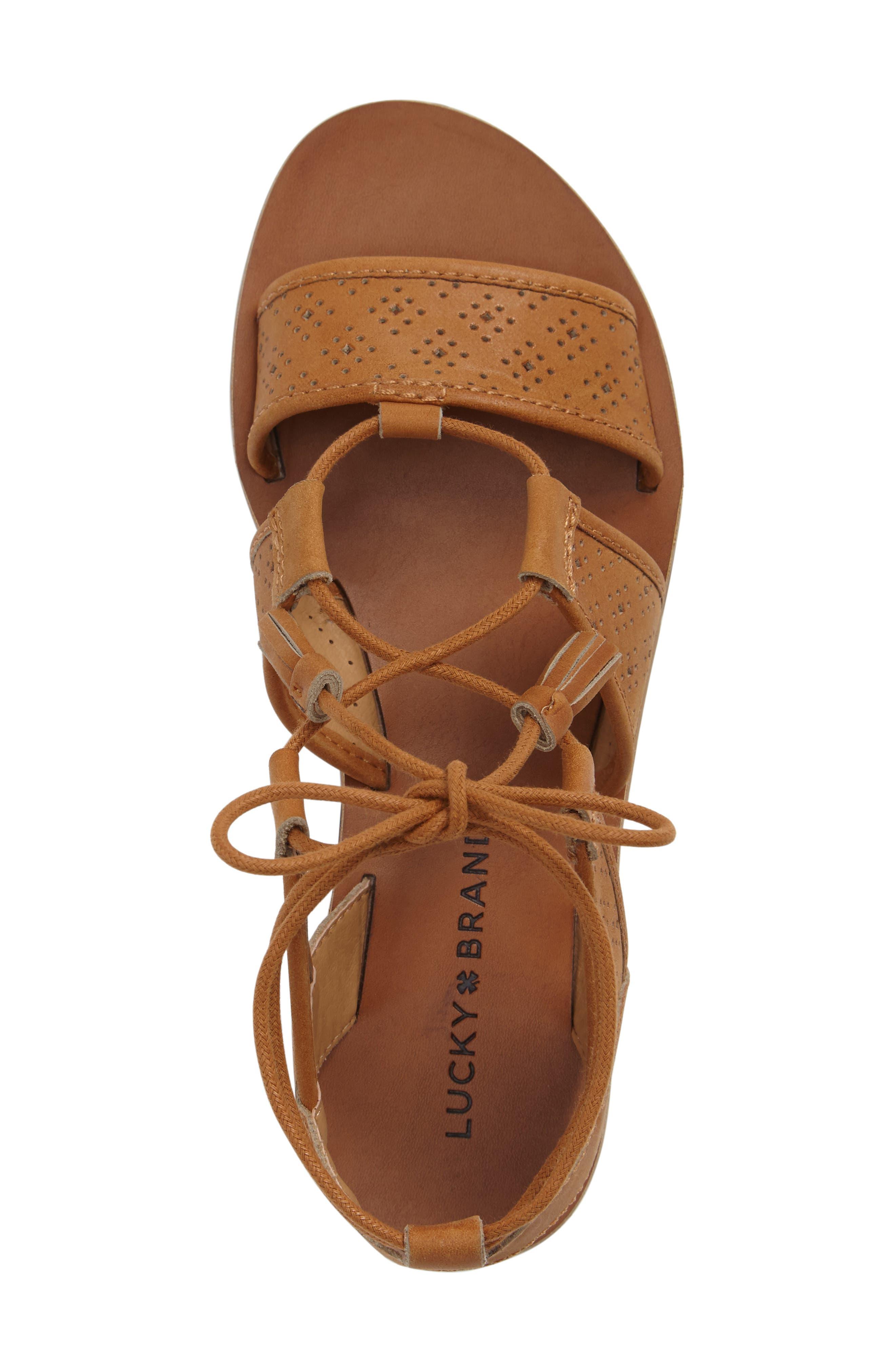Brenny Sandal,                             Alternate thumbnail 3, color,                             Cafe Leather