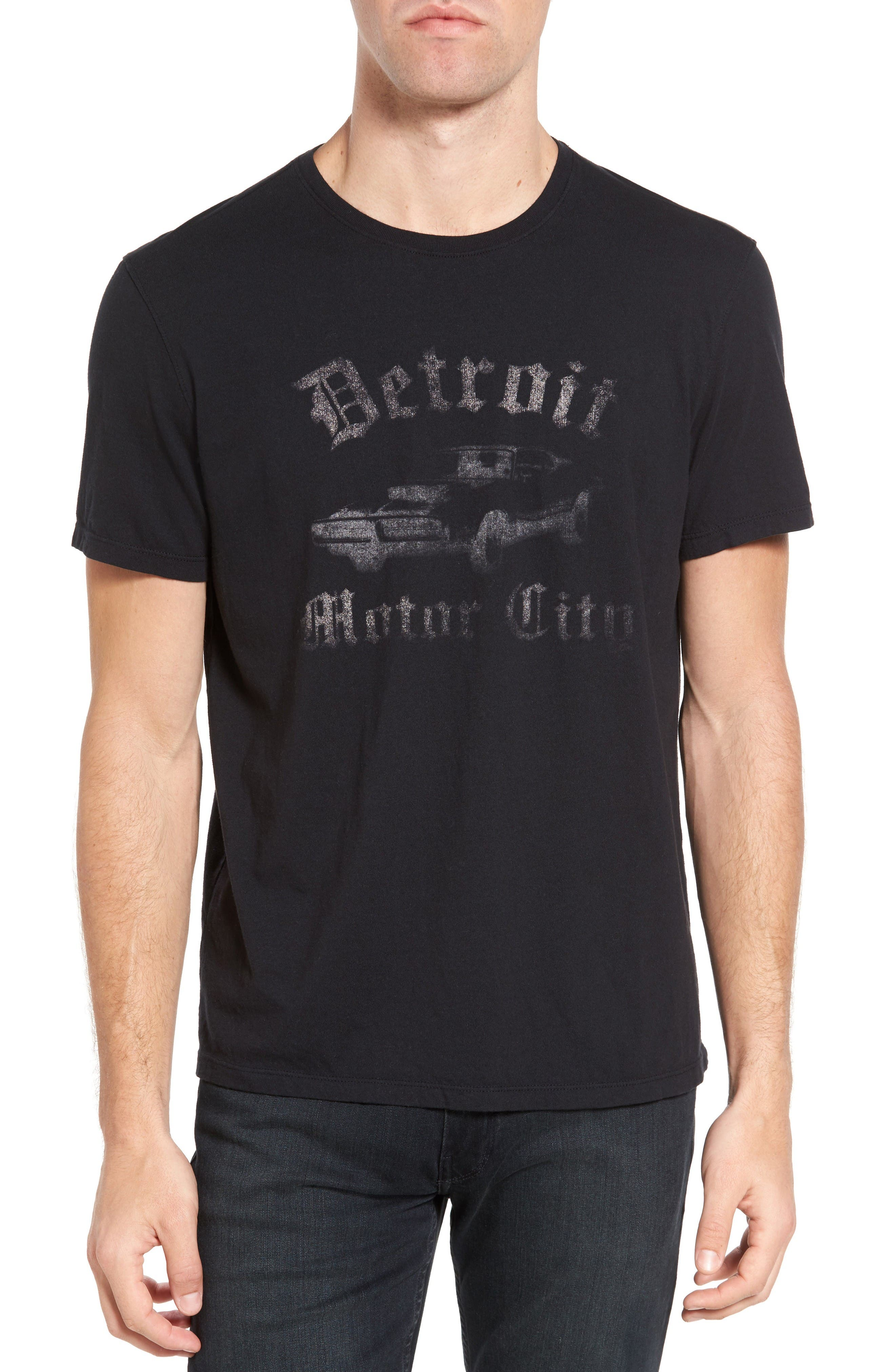 Detroit Motor City Graphic T-Shirt,                         Main,                         color, Black