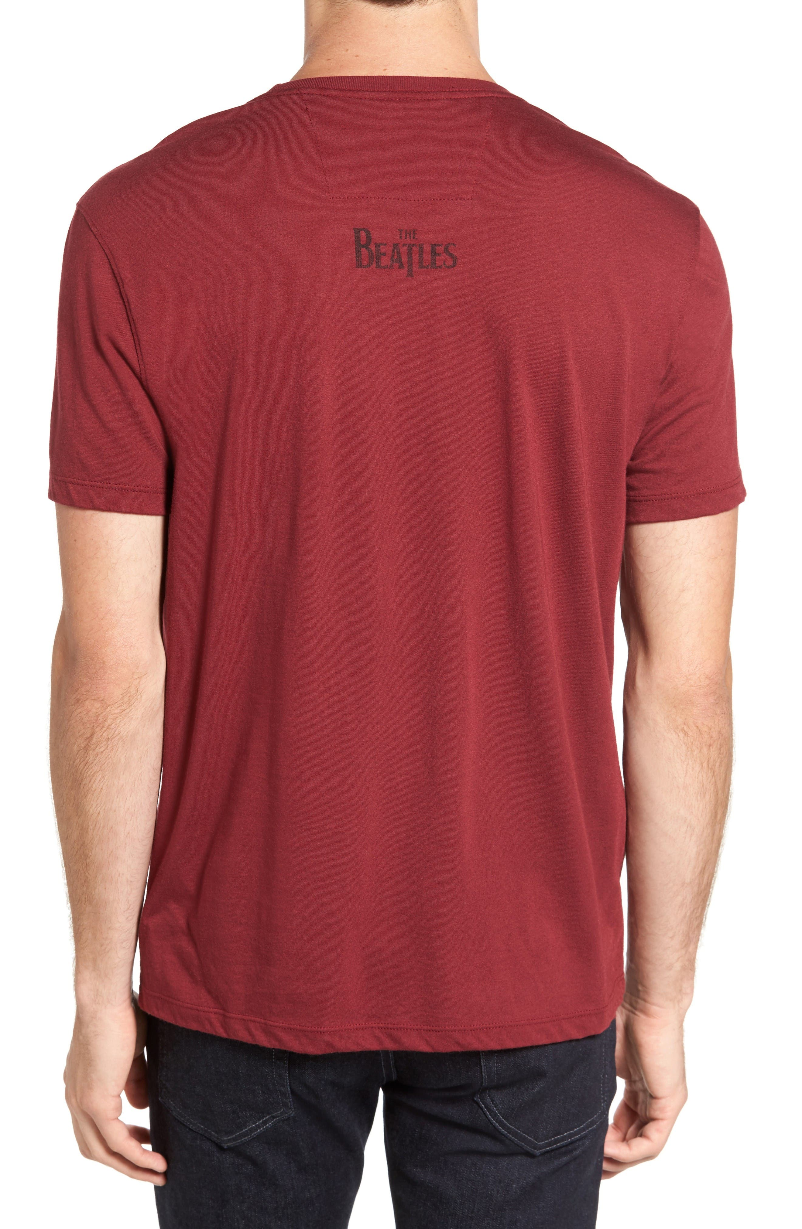 Beatles Help Graphic T-Shirt,                             Alternate thumbnail 2, color,                             Oxblood
