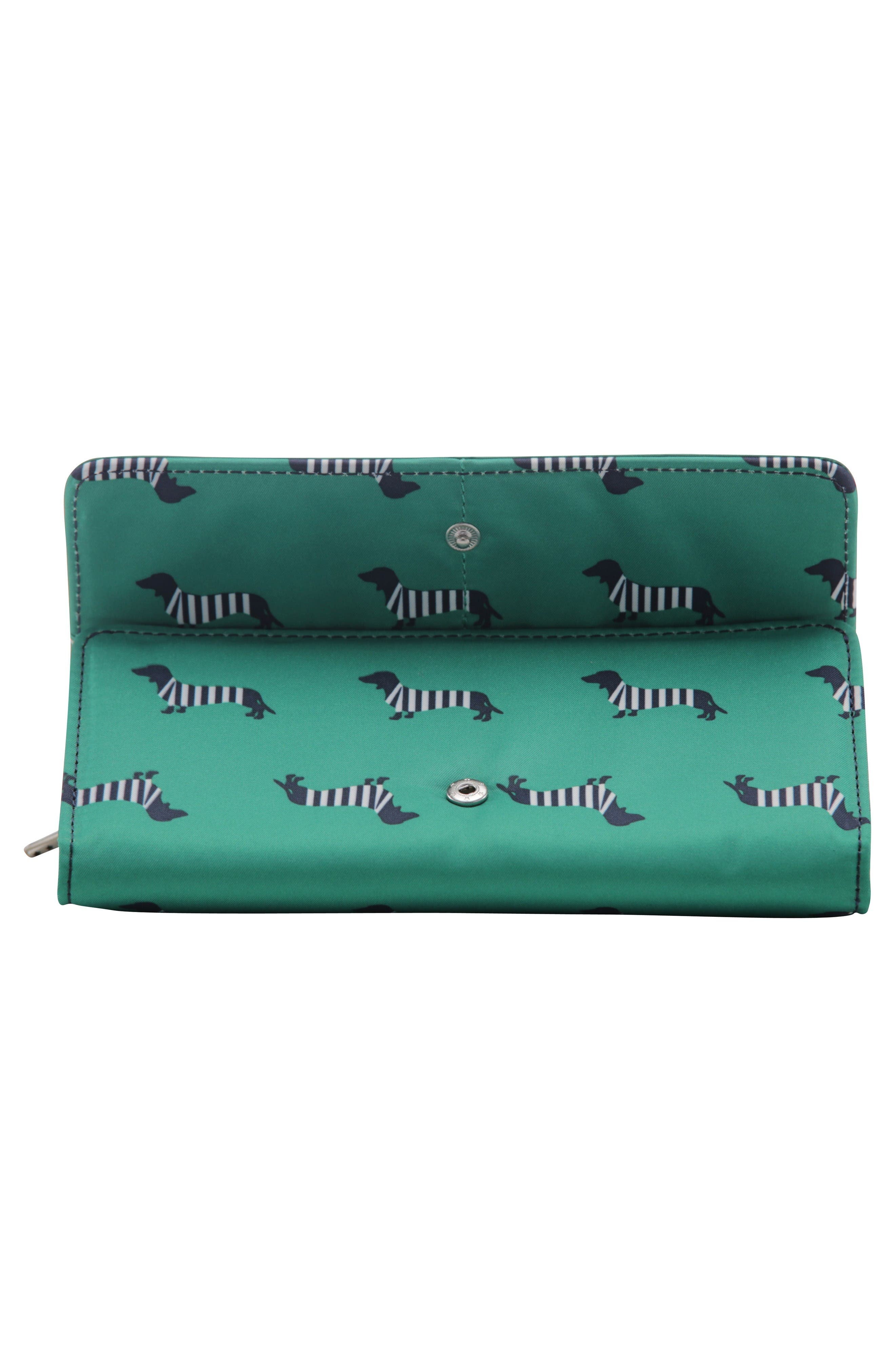 Be Rich - Coastal Collection Trifold Clutch Wallet,                             Alternate thumbnail 2, color,                             Coney Island