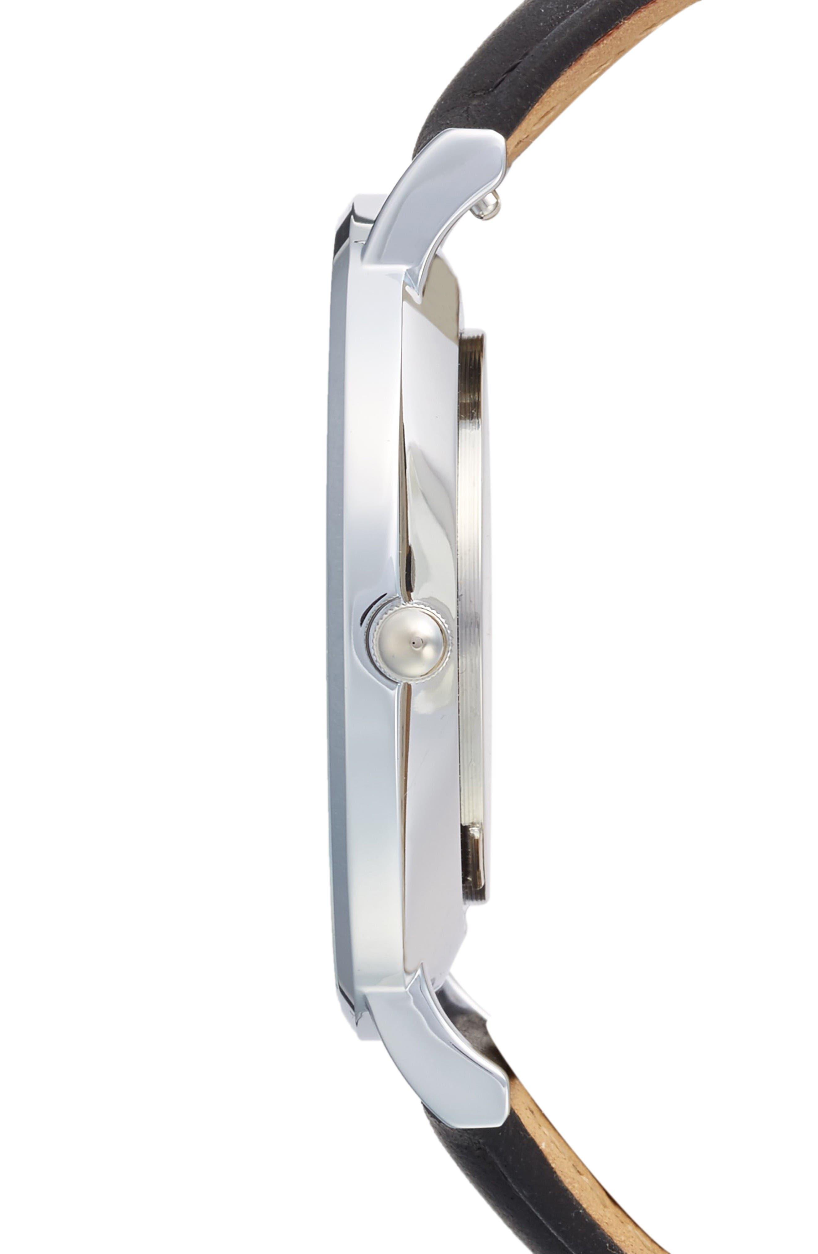Alternate Image 3  - CLUSE La Bohème Leather Strap Watch, 38mm