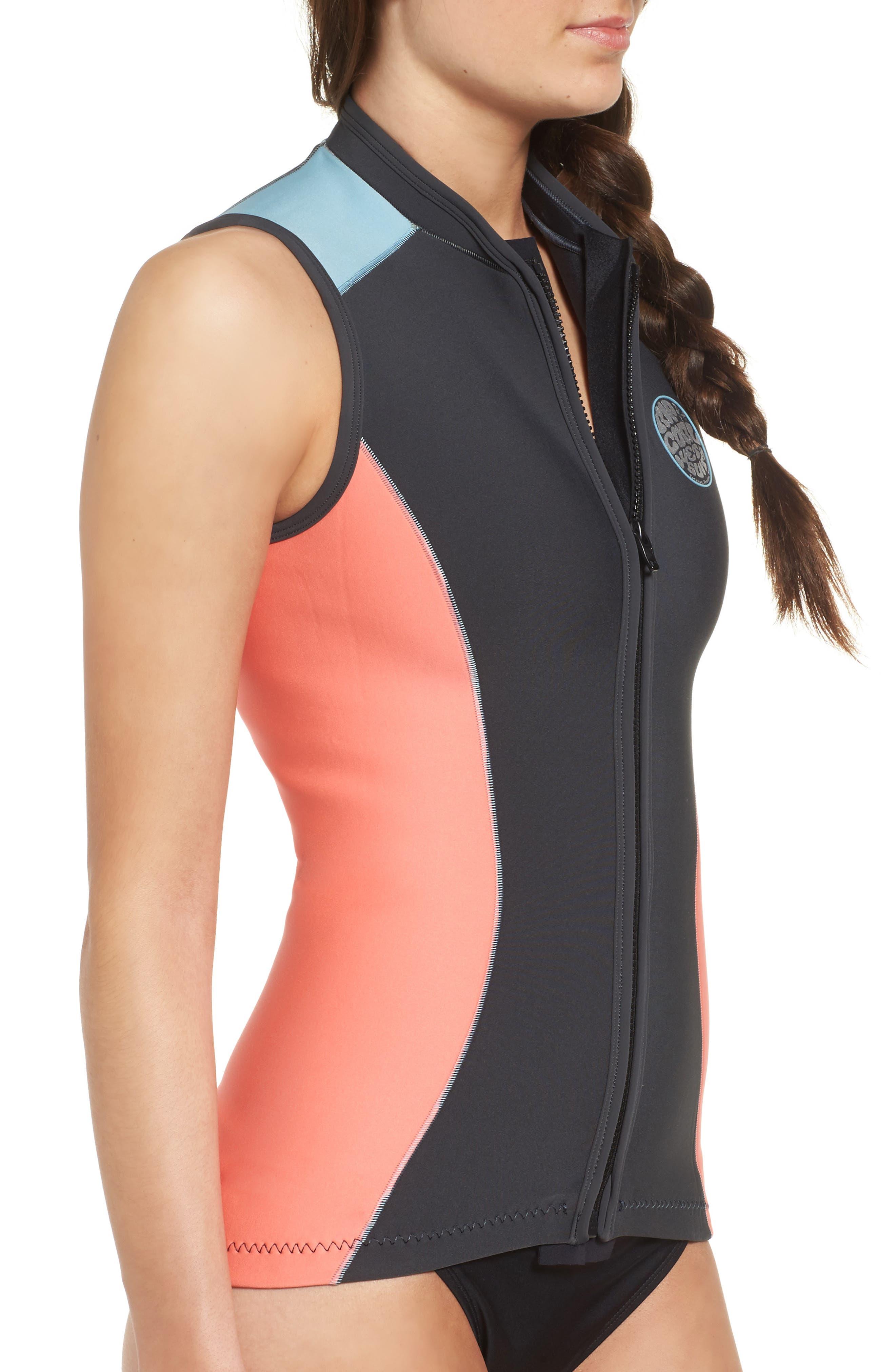 G-Bomb Wetsuit Vest,                             Alternate thumbnail 3, color,                             Coral
