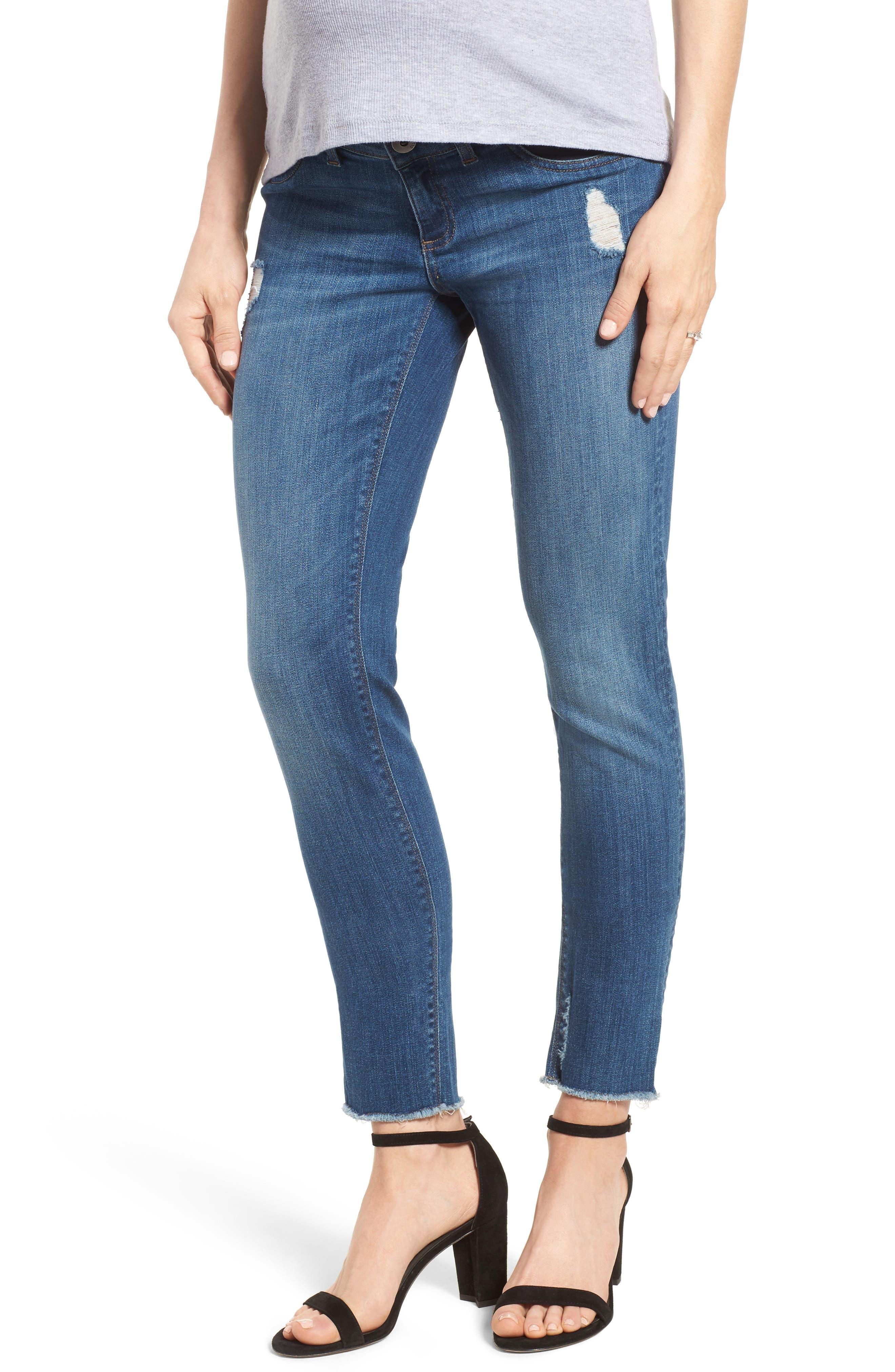 Emma Power Legging Maternity Jeans,                         Main,                         color, Strobe