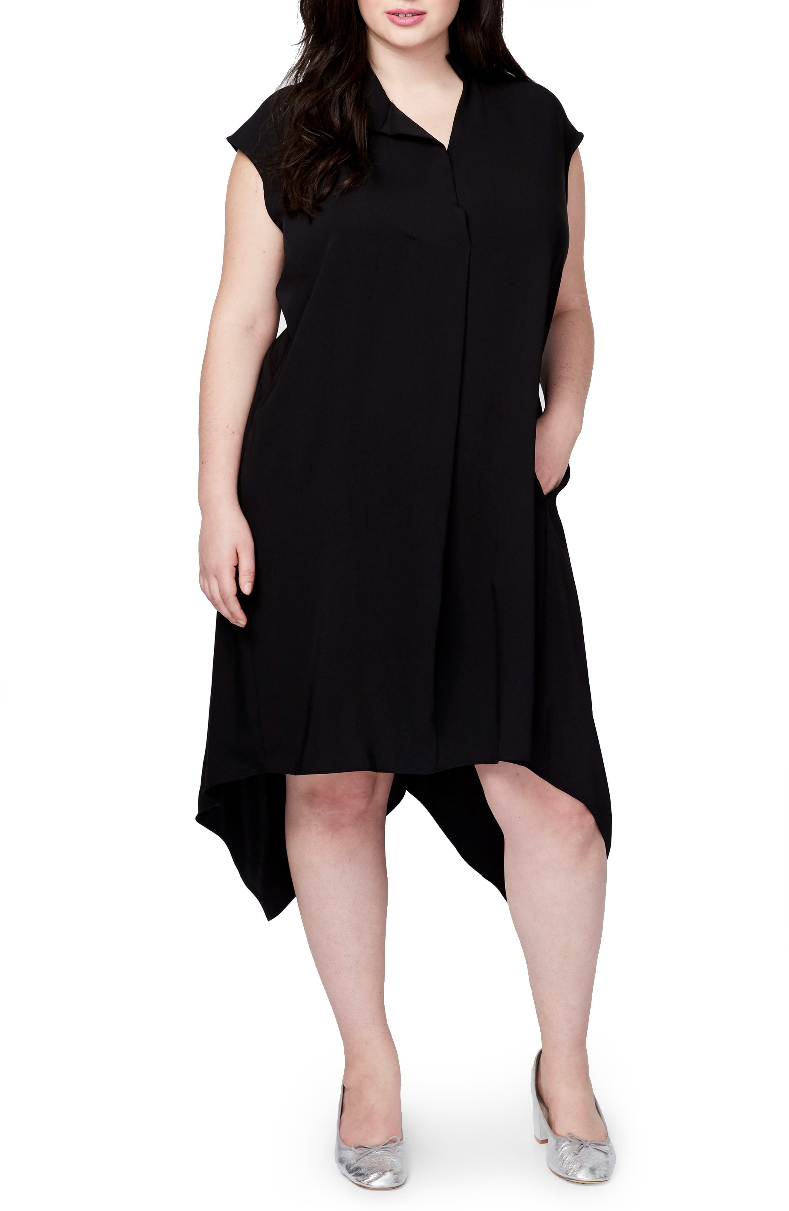 Alternate Image 1 Selected - RACHEL Rachel Roy Harper Handkerchief Hem Dress (Plus Size)