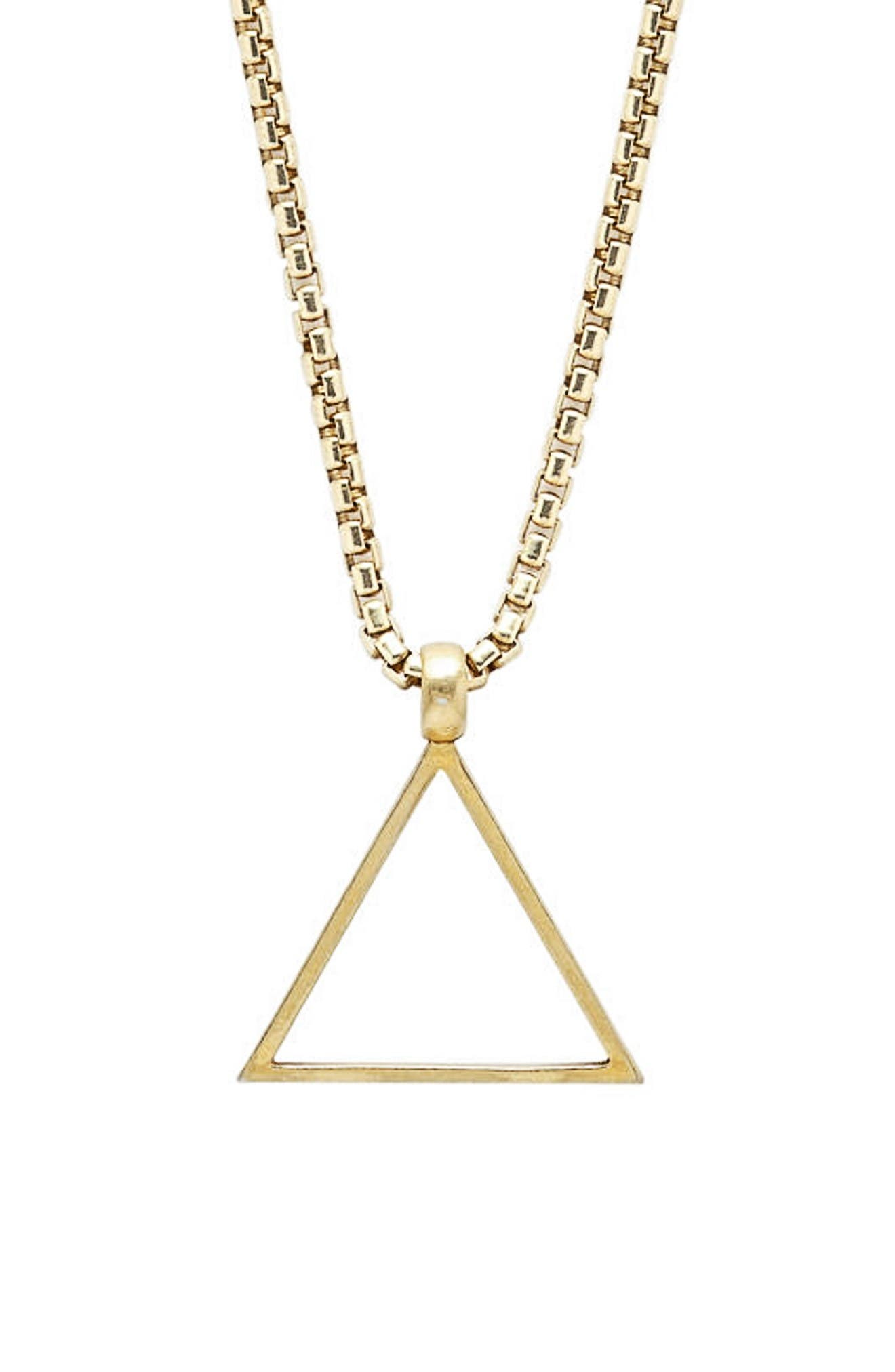 Triangle Pendant Necklace,                         Main,                         color, Gold