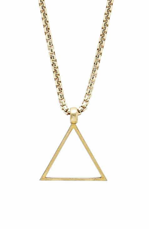 Mens necklaces pendants chains nordstrom degs sal triangle pendant necklace aloadofball Choice Image
