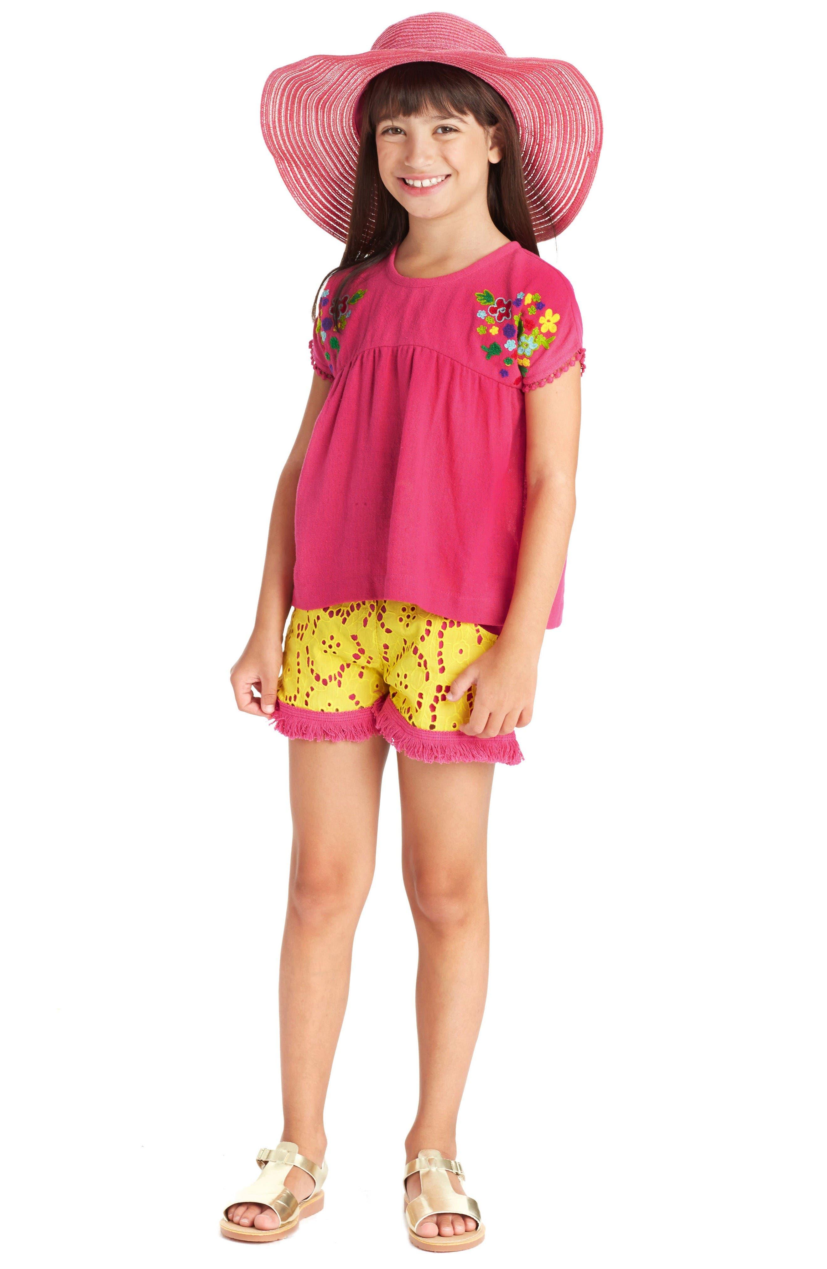 Alternate Image 2  - Masasla Baby Eyelet Shorts (Toddler Girls, Little Girls & Big Girls)