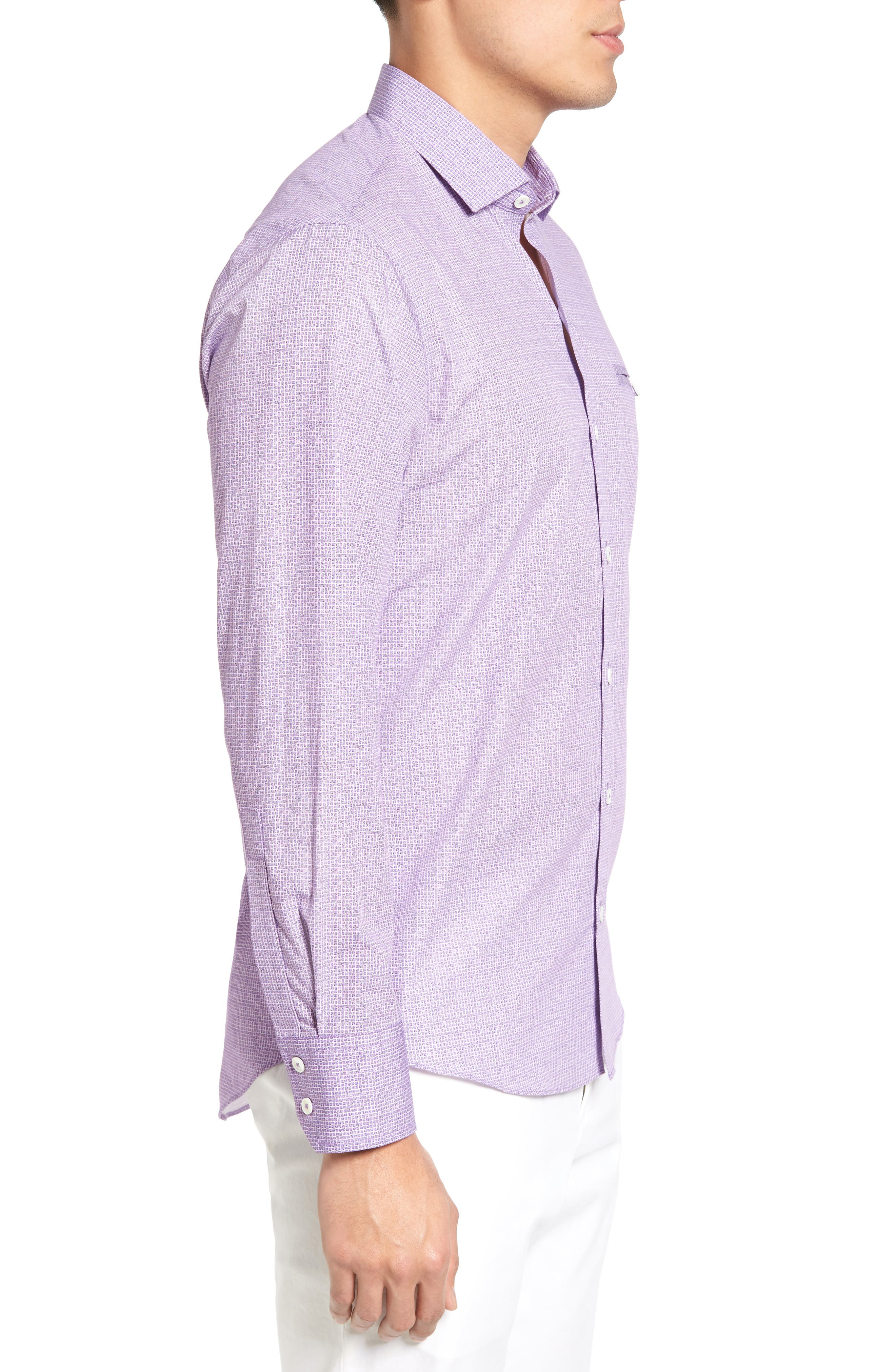 Alternate Image 3  - Zachary Prell McDesmond Trim Fit Print Sport Shirt