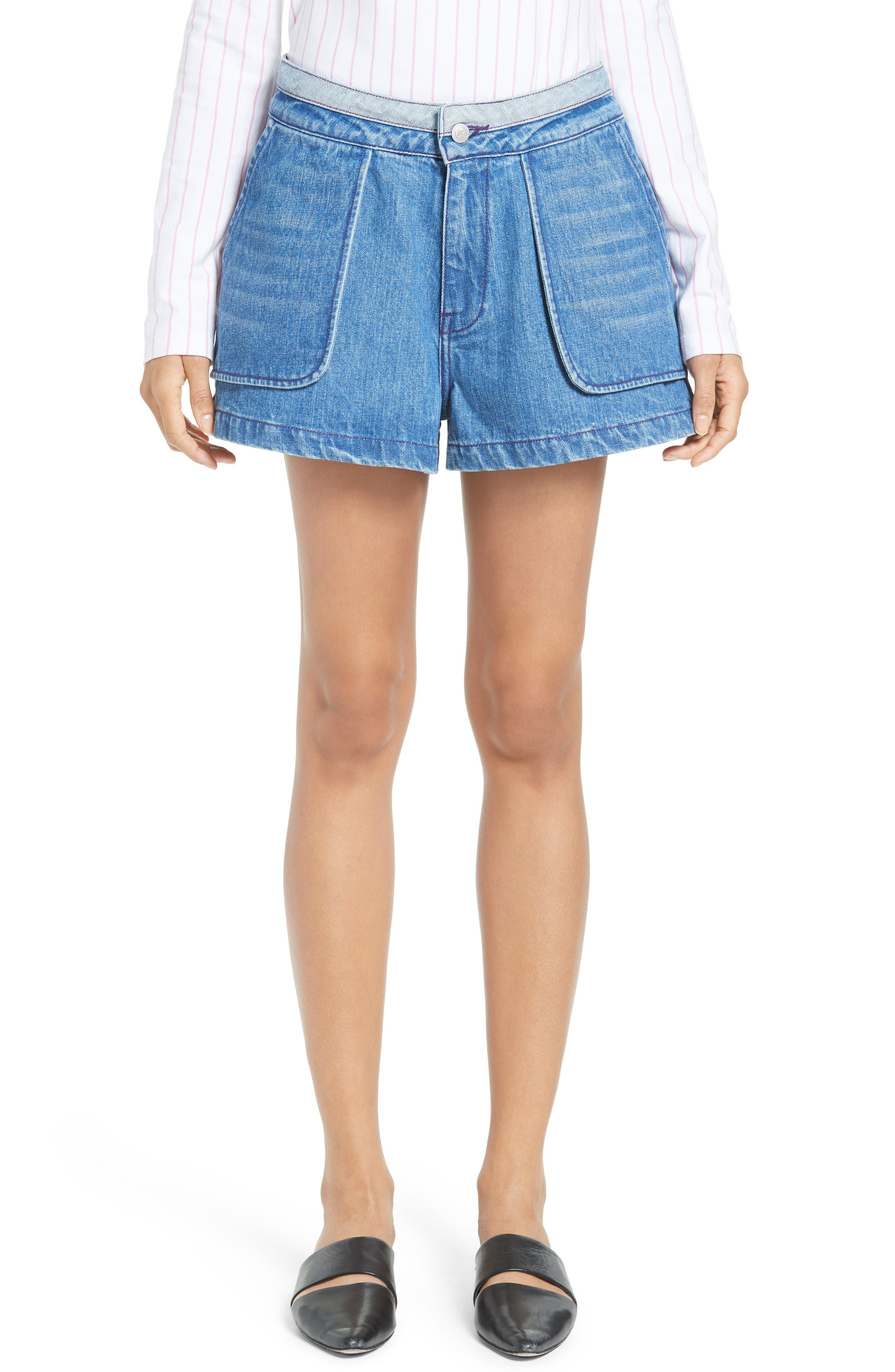 Opening Ceremony Inside Out Denim Shorts