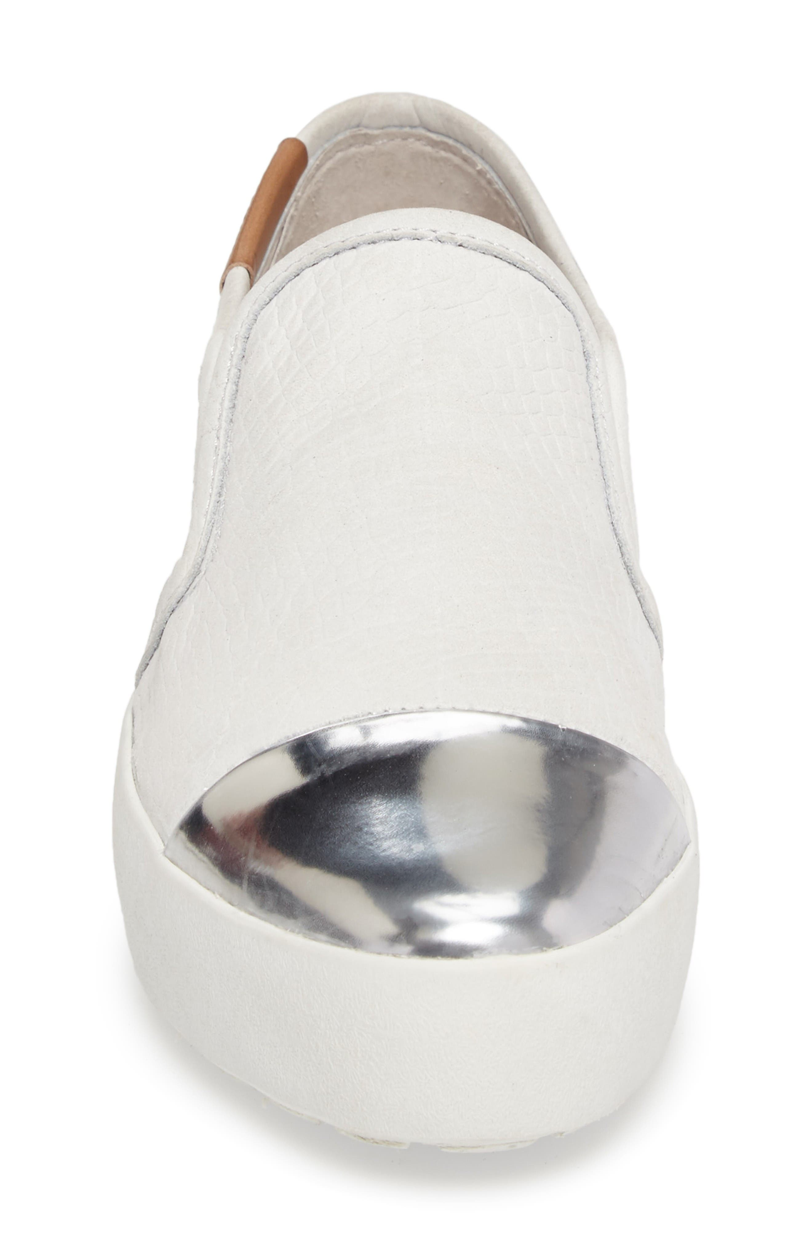 NL47 Slip-On Sneaker,                             Alternate thumbnail 4, color,                             White Nubuck