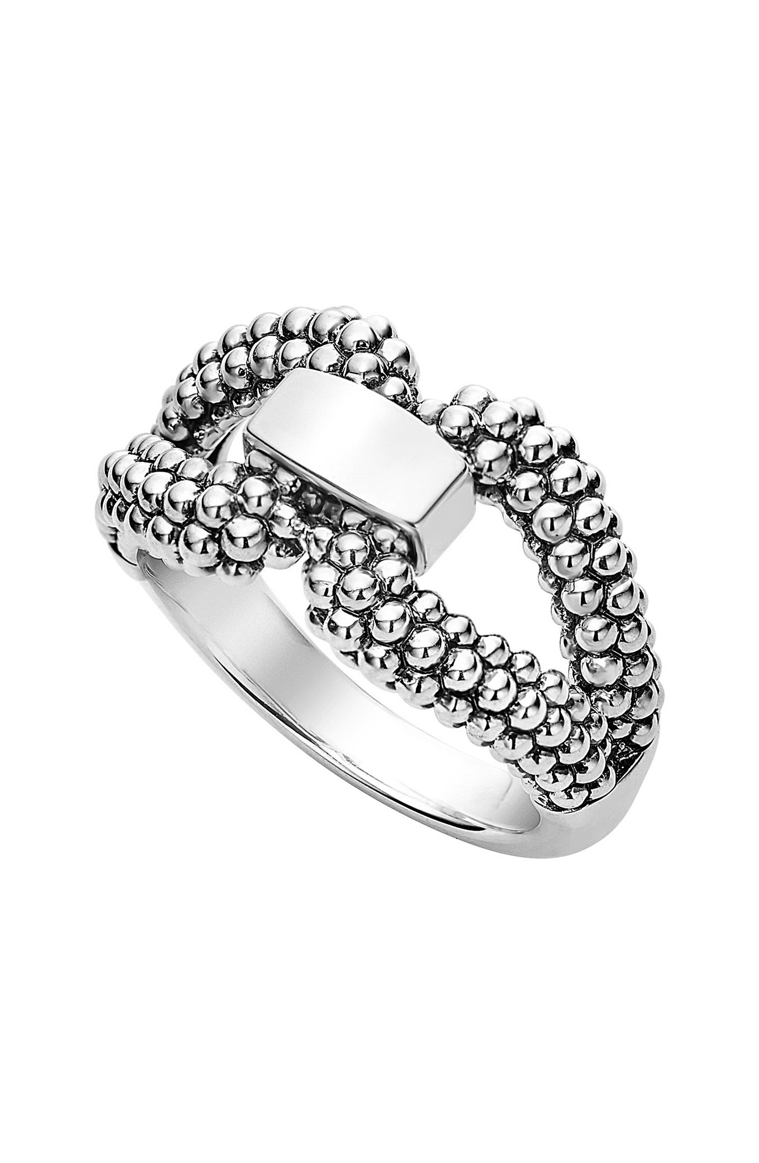 Derby Caviar Ring,                             Main thumbnail 1, color,                             Silver
