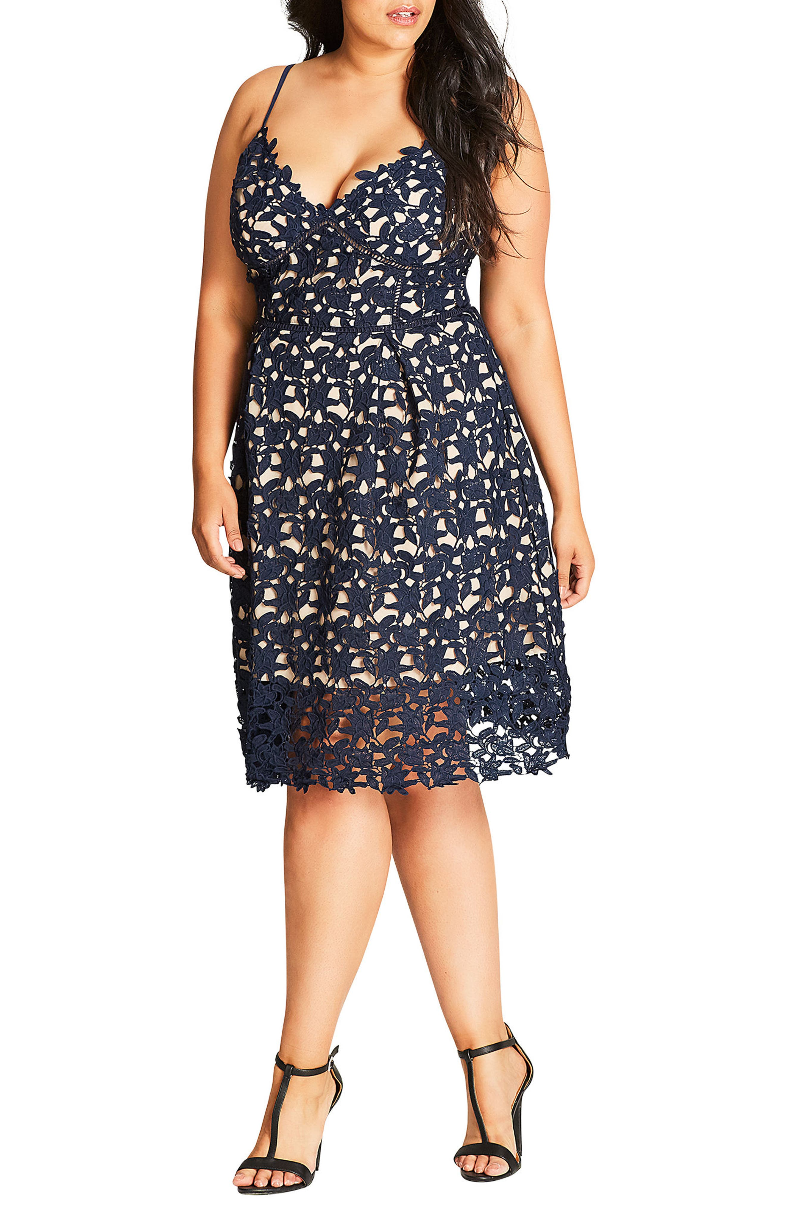 City Chic So Fancy Lace Dress (Plus Size)