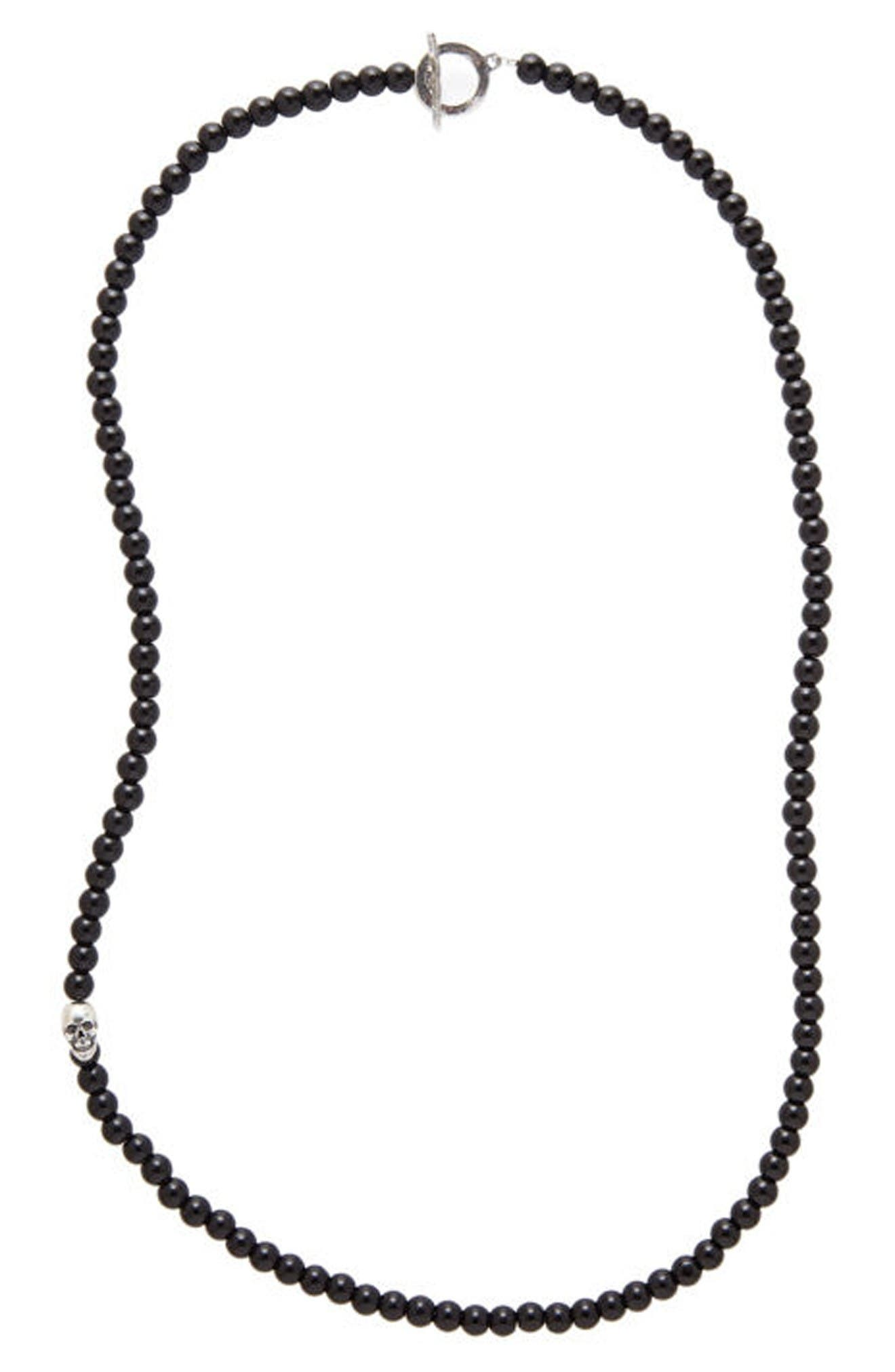 Alternate Image 1 Selected - Degs & Sal Onyx Bead Necklace